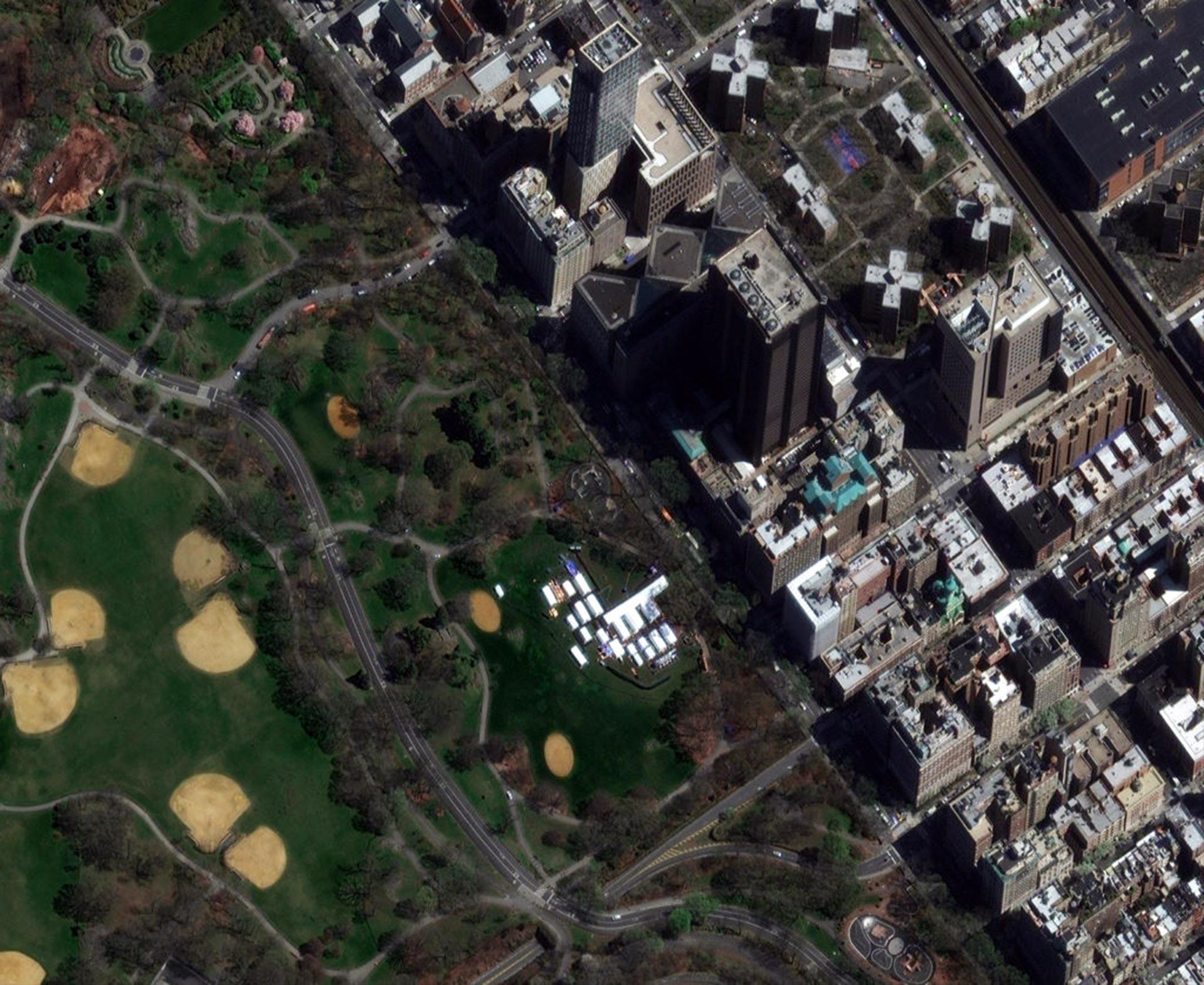 El gobierno de Nueva York instaló un hospital de campaña en el famoso Central Park