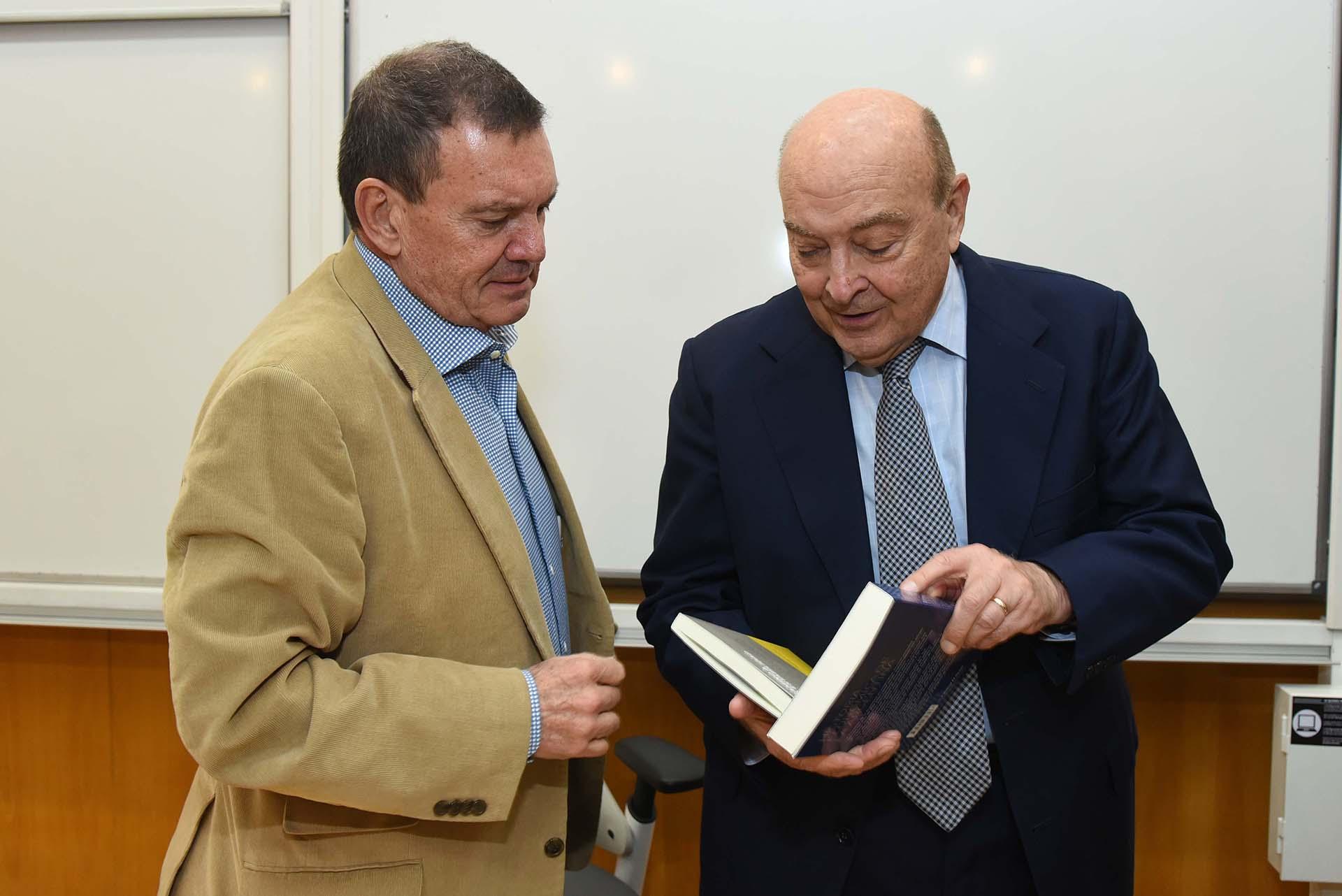 Héctor Masoero junto a Domingo Cavallo