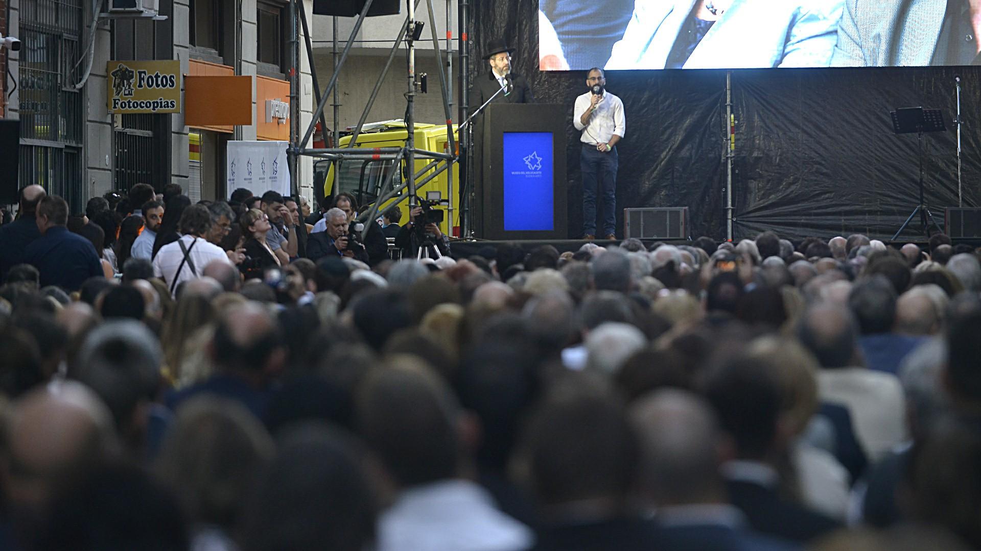 El gran Rabino Ashkenazí de Israel, David Lau, viajó para la inauguración en su discurso frente a los 800 invitados