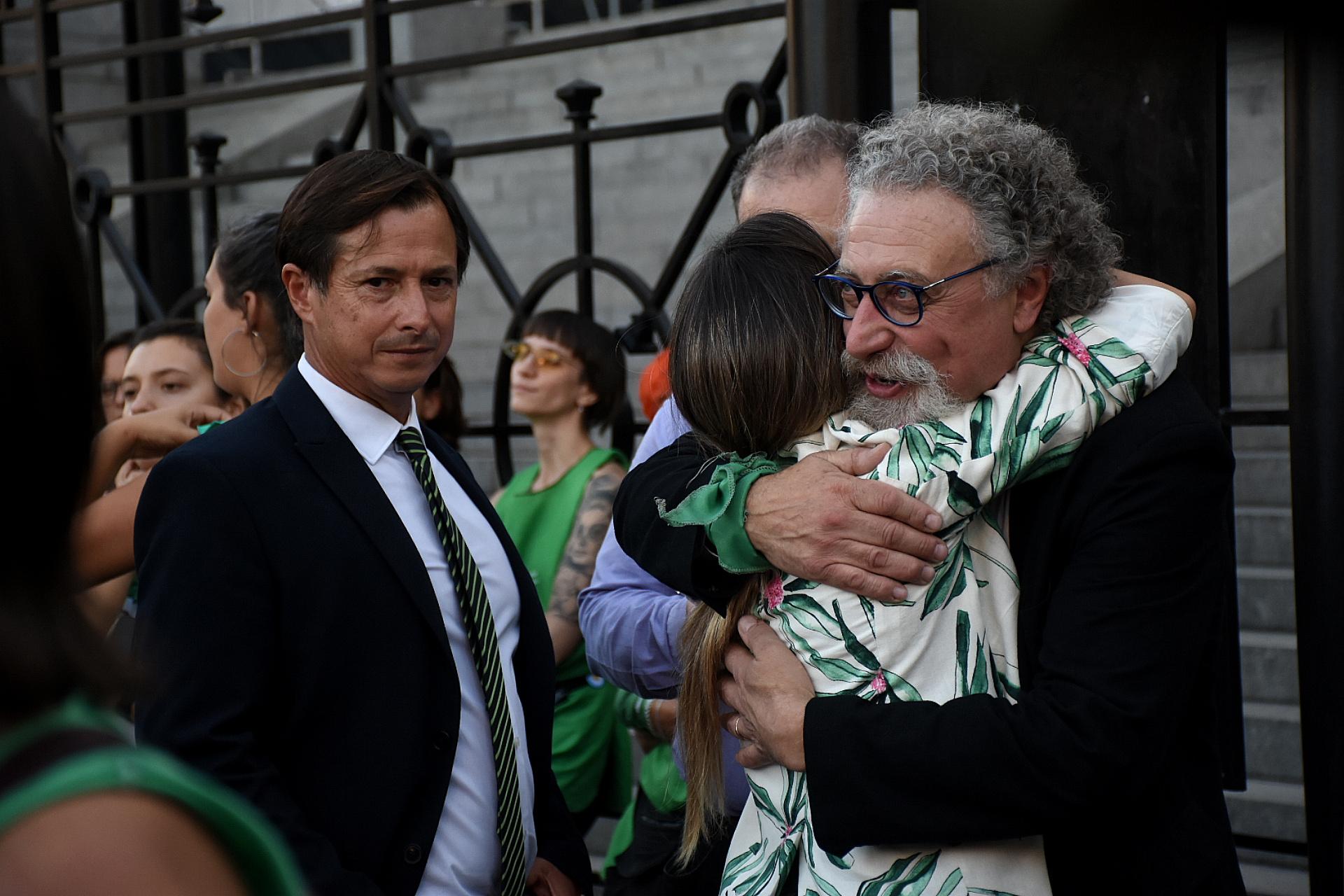 El legislador bonaerense Daniel Lipovetzky y el senador nacional Alfredo Luenzo