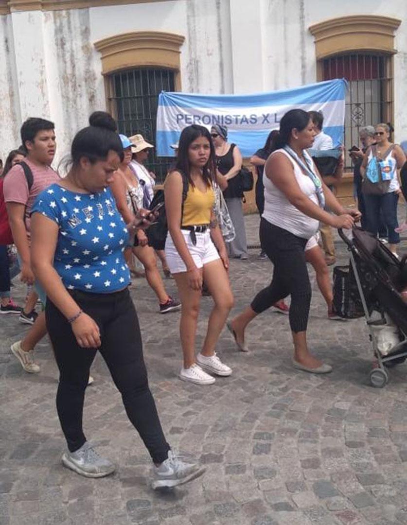 Peronistas presentes en la Misa en Luján por las Mujeres y por la Vida - 8 de Marzo