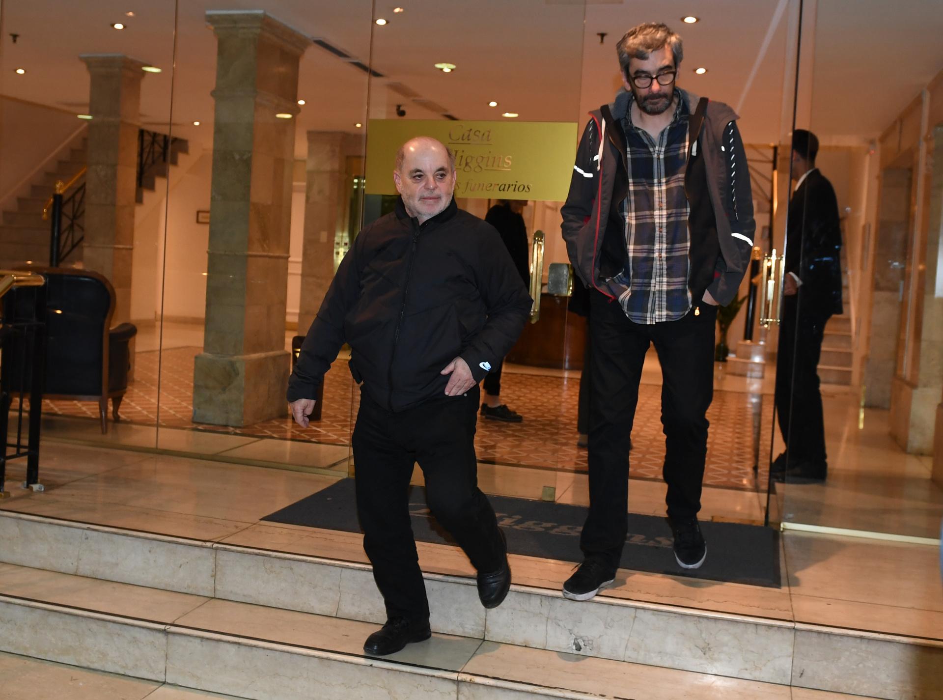 El periodista de C5N Tuny Kolman, junto al directivo de Radio 10, Willy Brey