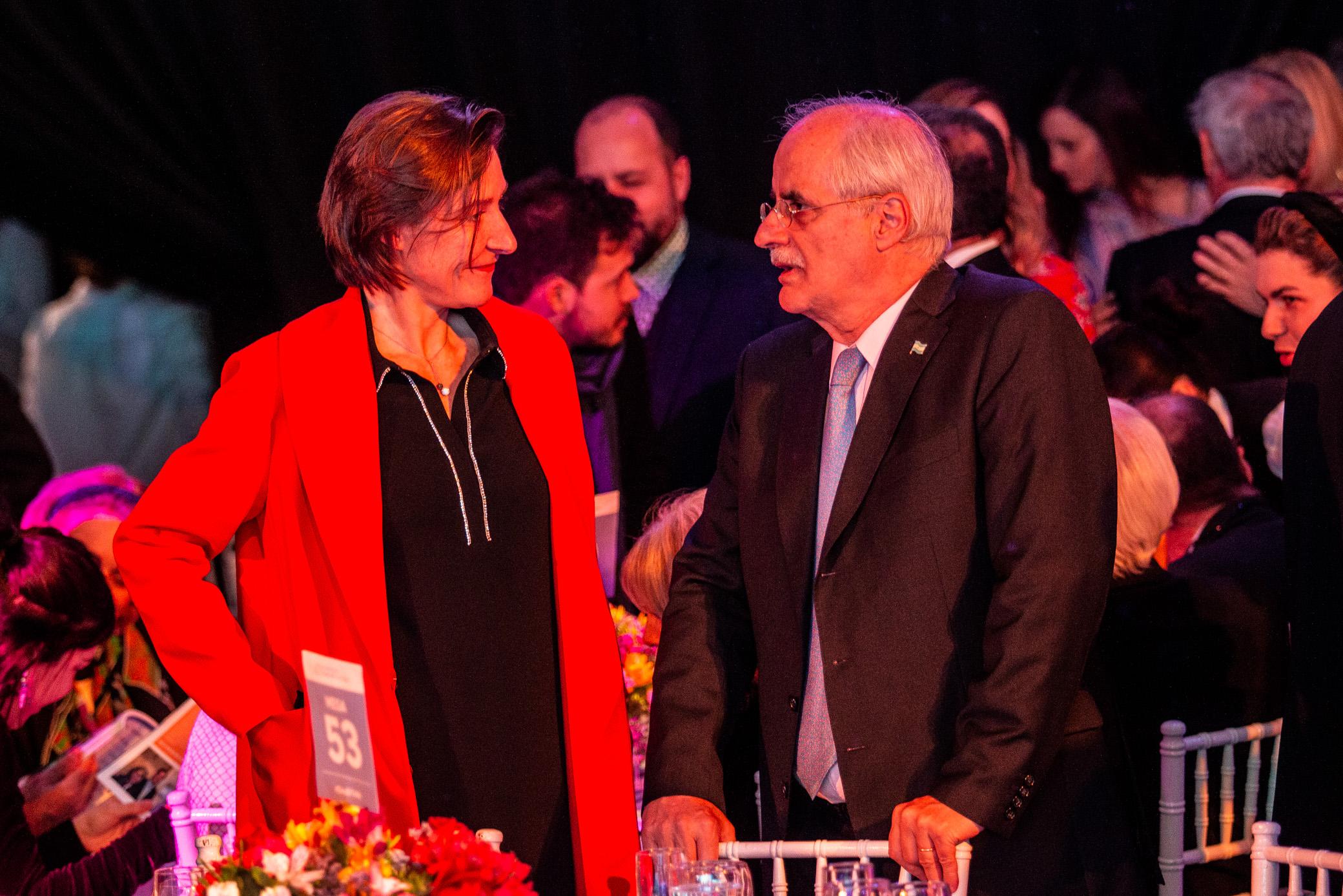 Aude Maio-Coliche, embajadora de la Unión Europea en la Argentina, y el diputado del Parlasur, Jorge Taiana, ex Canciller de la Nación