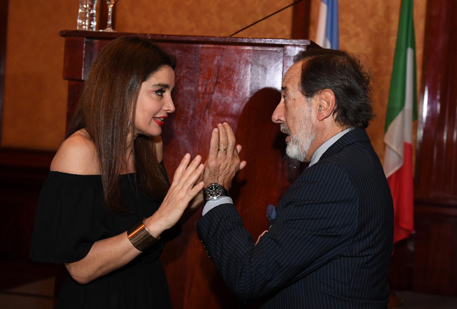 Verónica Varano y Guillermo Francella