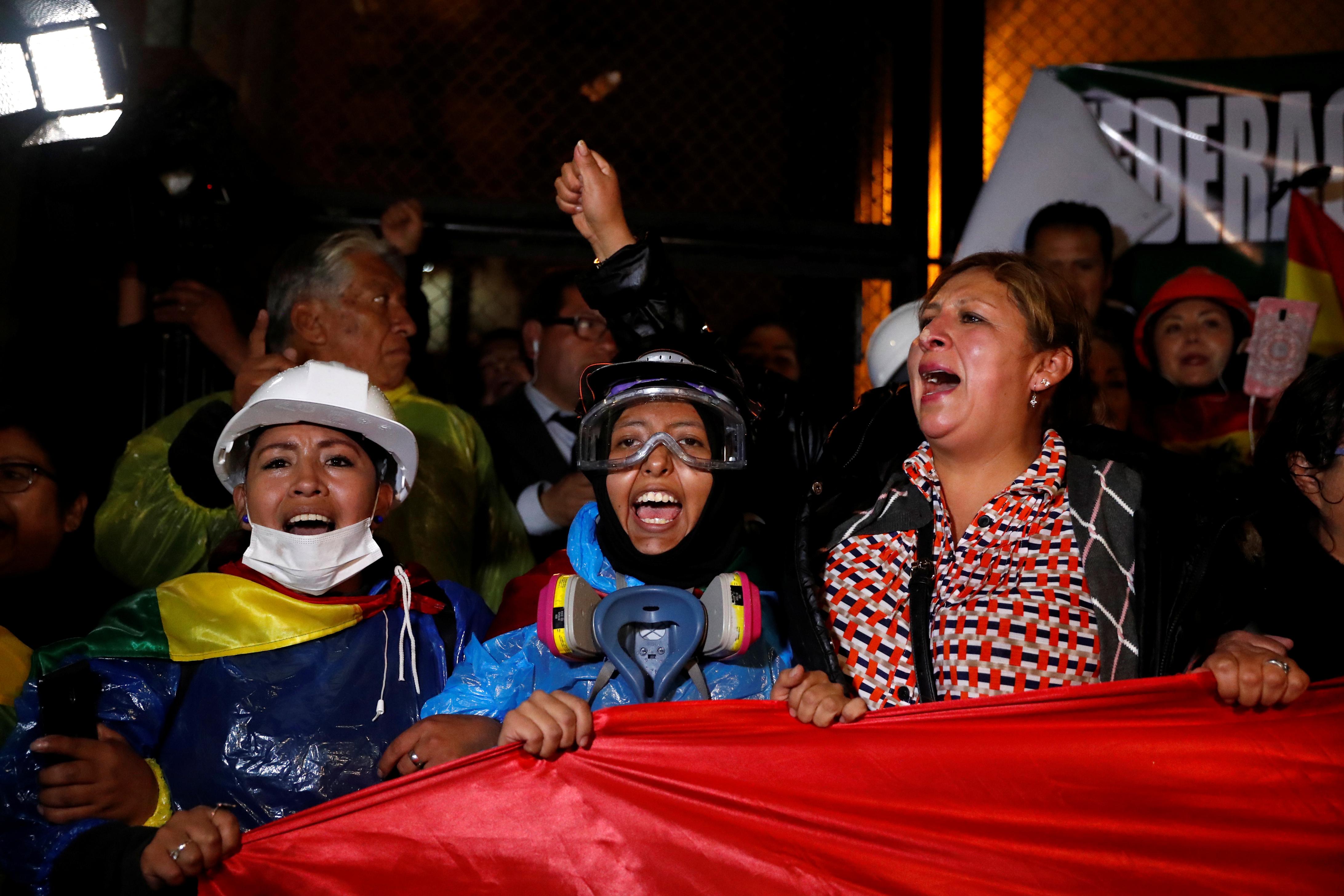 Protestas en La Paz.