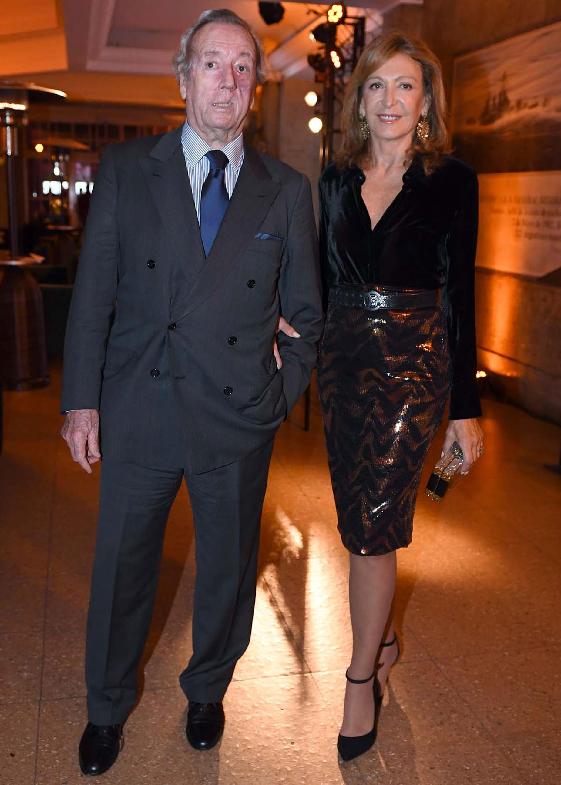 El ex presidente del Jockey Club, Bruno Quintana, y su mujer Mariel Llorens de Quintana