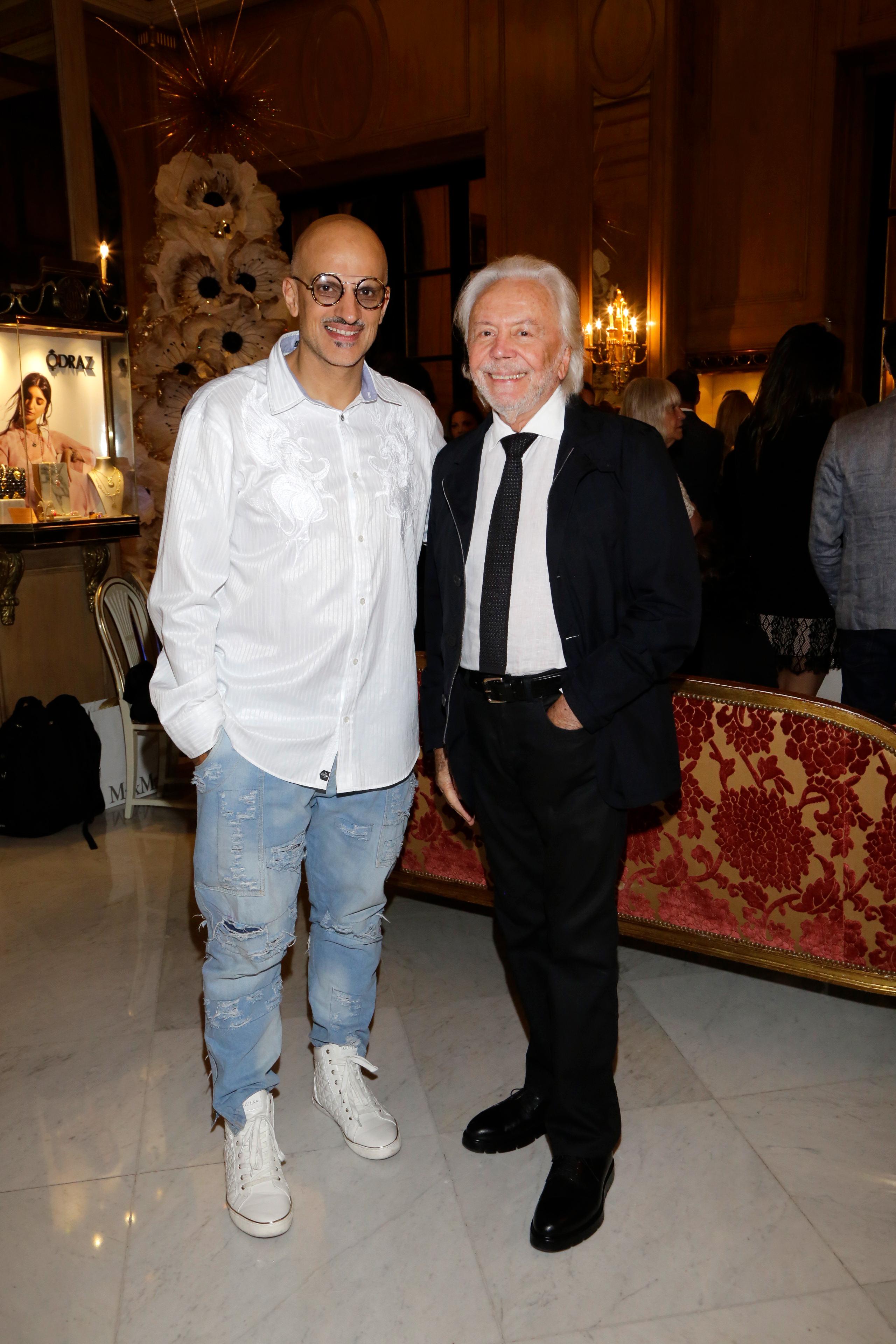 El empresario teatral Guillermo Marín y Guido Parisier