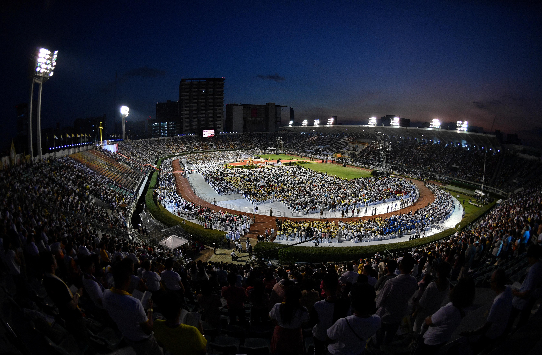 Vista general durante la Santa Misa celebrada por el Papa Francisco en el Estadio Nacional de Bangkok, Tailandia, el 21 de noviembre de 2019. (REUTERS / Soe Zeya Tun)