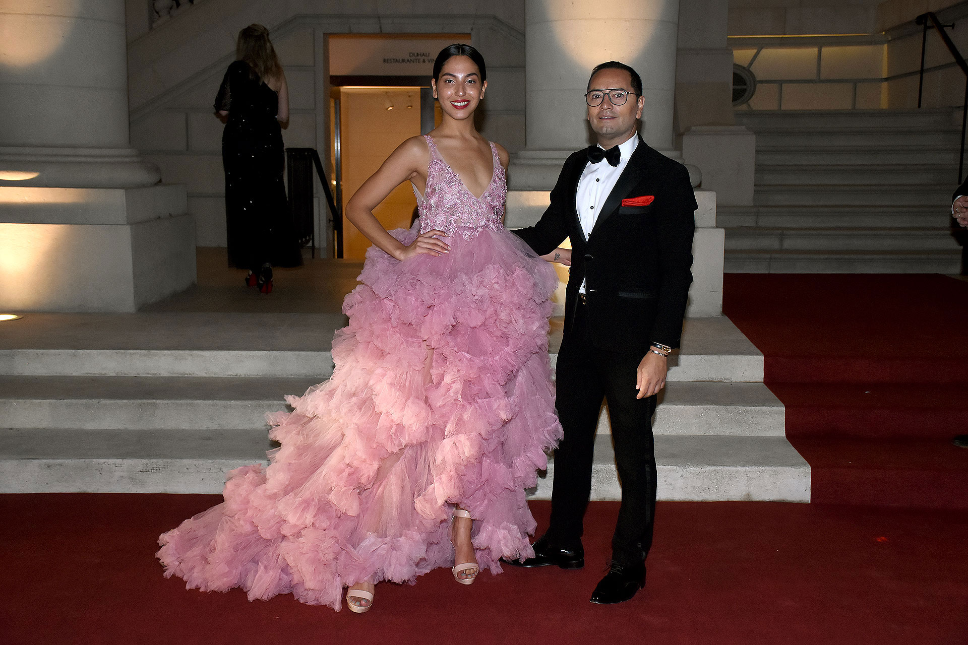 La modelo Alexia Toumikian y Fabián Medina Flores