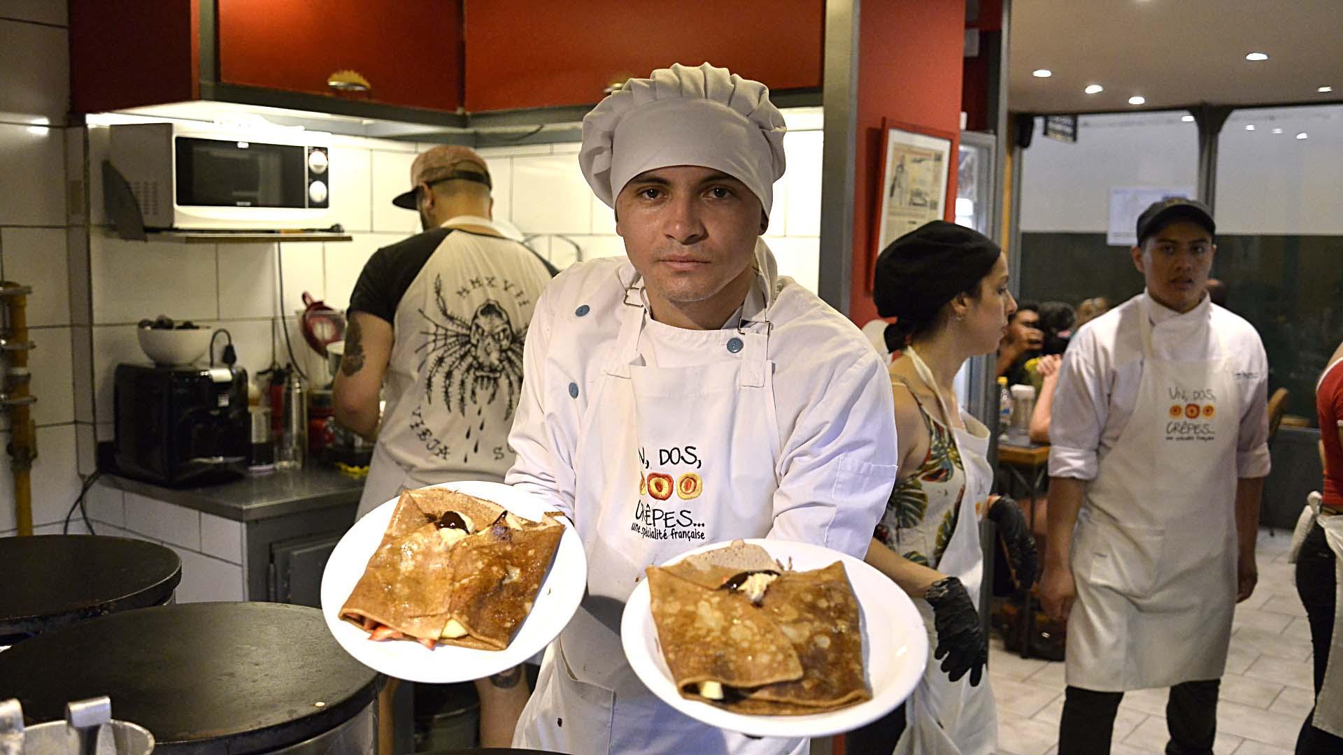 El crêpe fue el gran protagonista del Día de la Candelaria en el Mercado de San Telmo