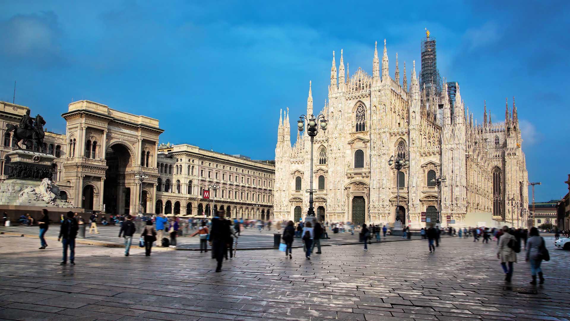 El Duomo de Milán, antes del brote (Shutterstock)