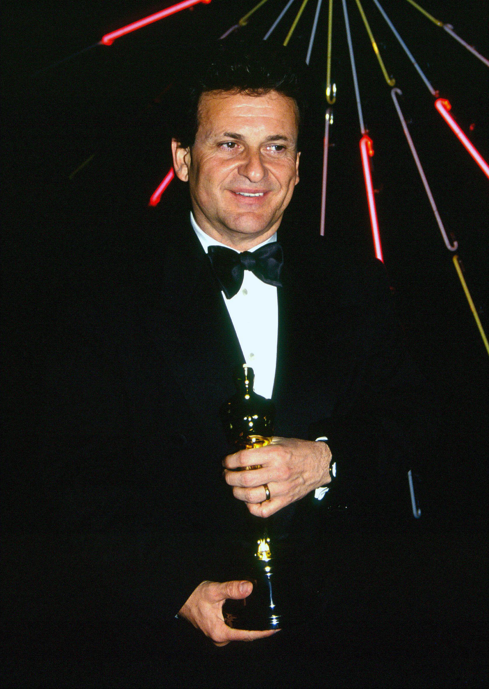 El talensoso Joe Pesci en los premios Oscar de 1991. Tras muchos años alejado del cine, Pesci le dijo que sí a Scorsese para ser parte de