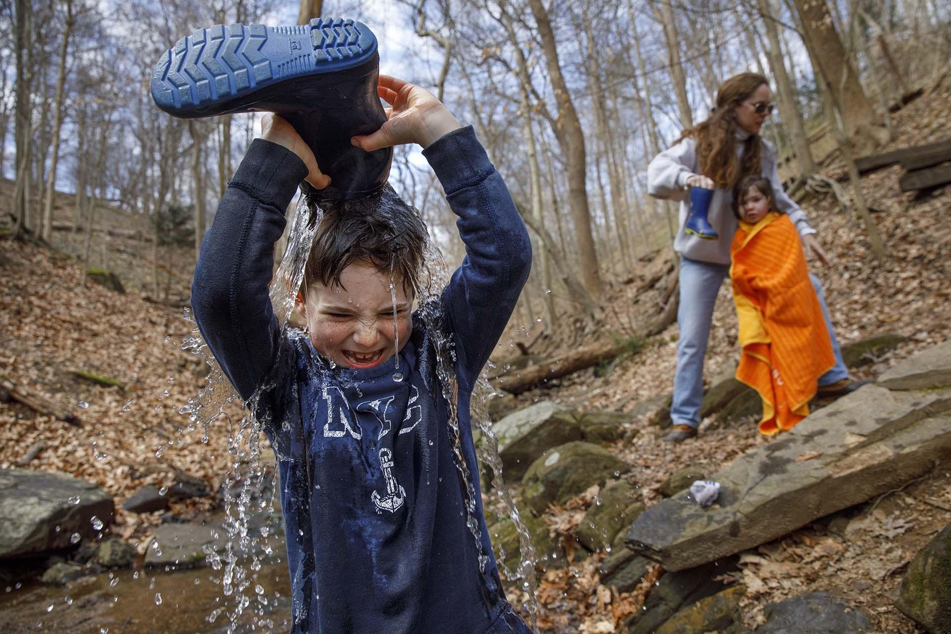 Desmond Peskowitz, de 7 años, en el Parque Takoma (AP Photo/Jacquelyn Martin)