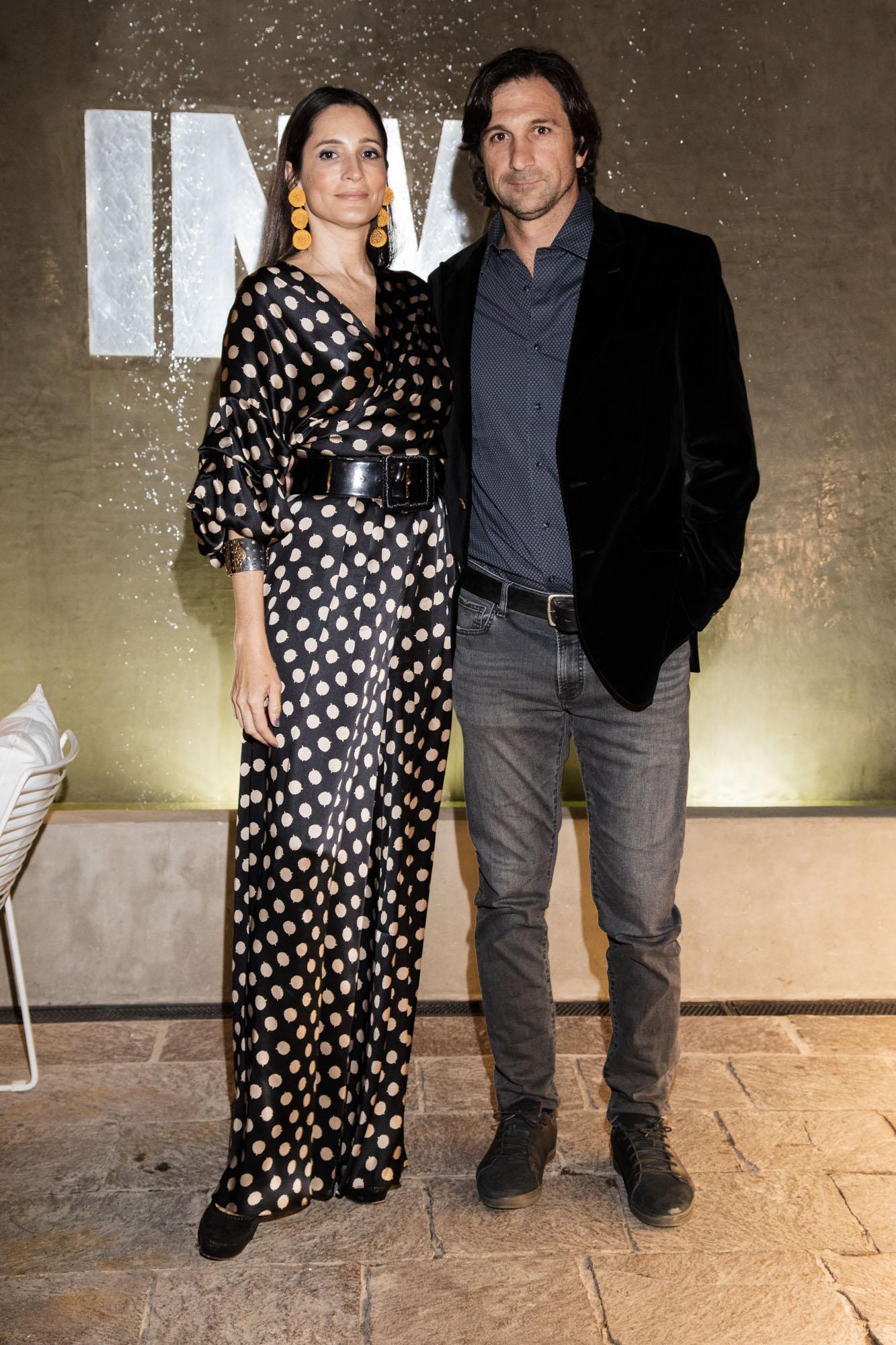 El presidente de la Asociación Argentina de Polo, Eduardo Novillo Astrada, y su mujer Astrid Muñoz