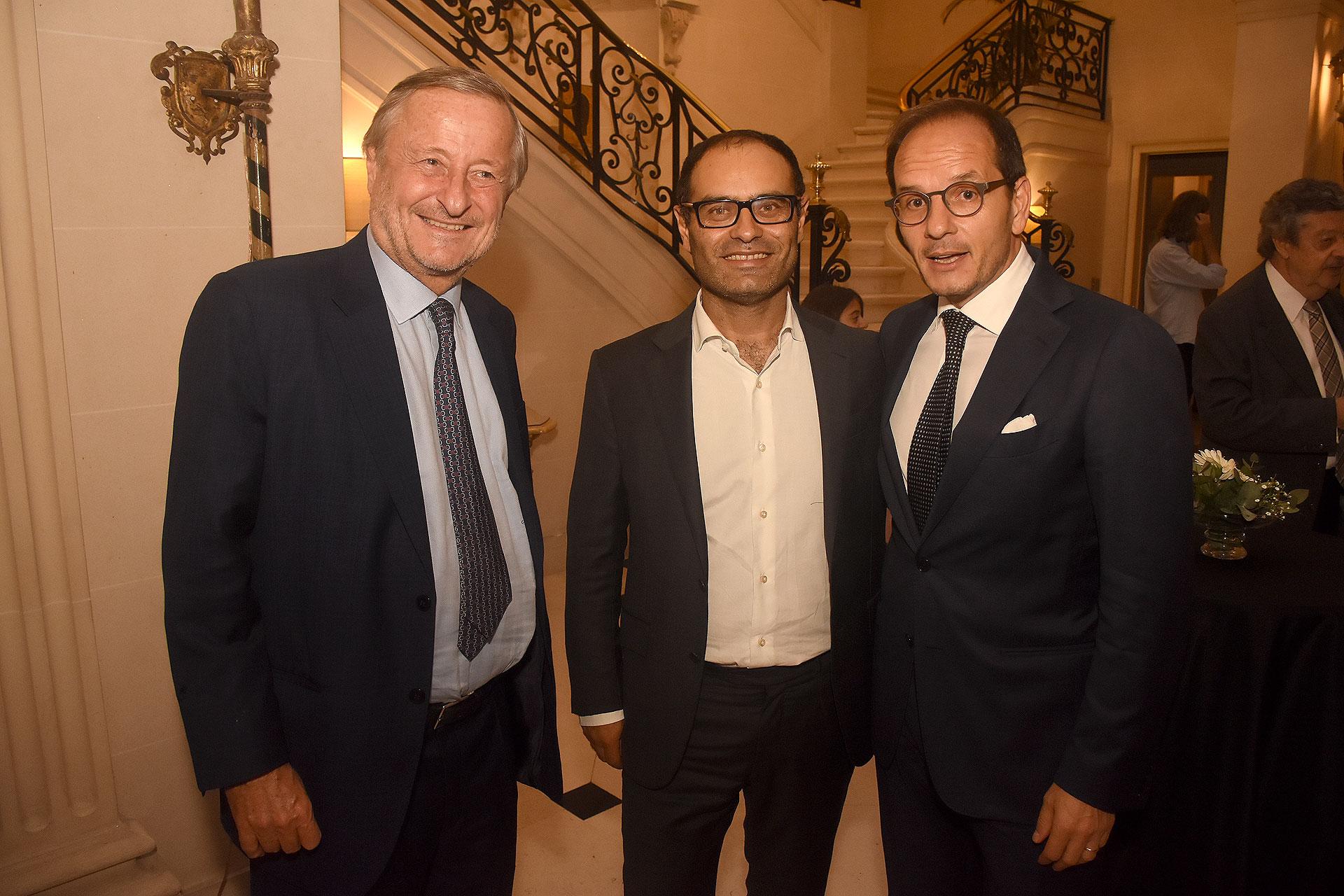 Cristiano Rattazzi, Claudio Manzo y Giuseppe Manzo