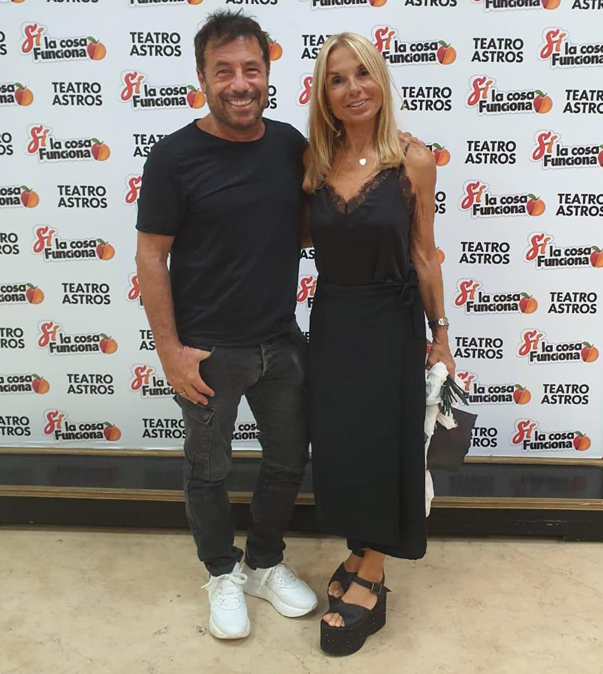 Ricky Sarkany y su esposa Graciela Papini