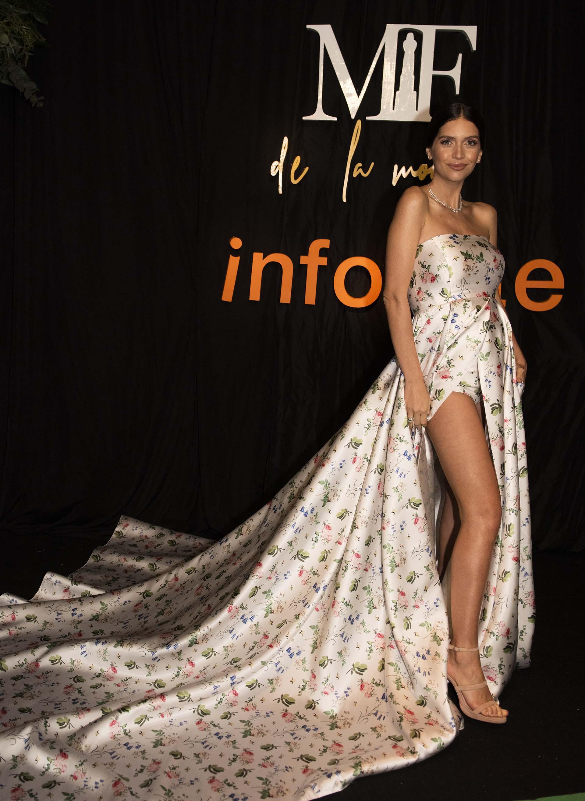 Zaira Nara con un diseño de Valentina Karnoubi, quien estaba nominada como nuevo talento