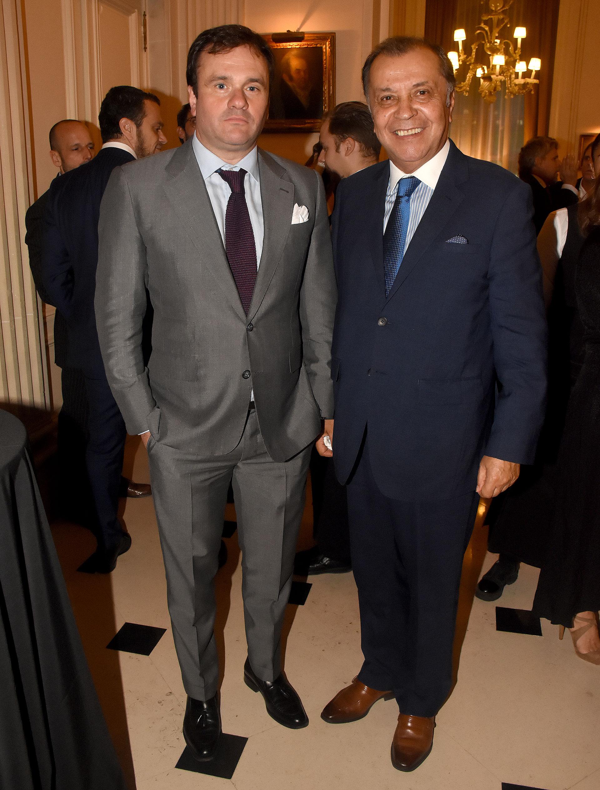 Juan Pablo Maglier y el embajador de Colombia en la Argentina, Álvaro Pava Camelo