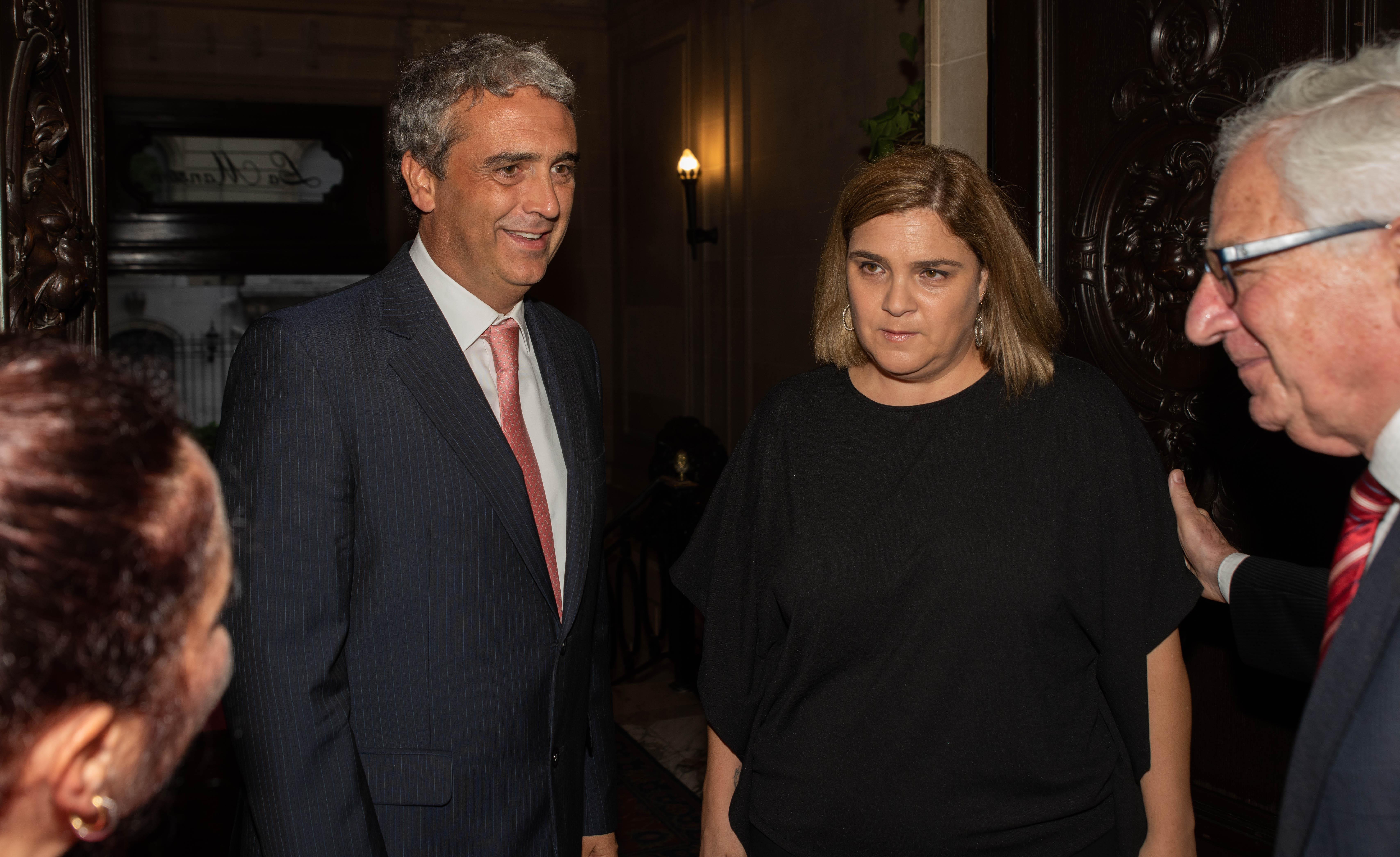 Marcela Noble Herrera y su marido Javier Molina