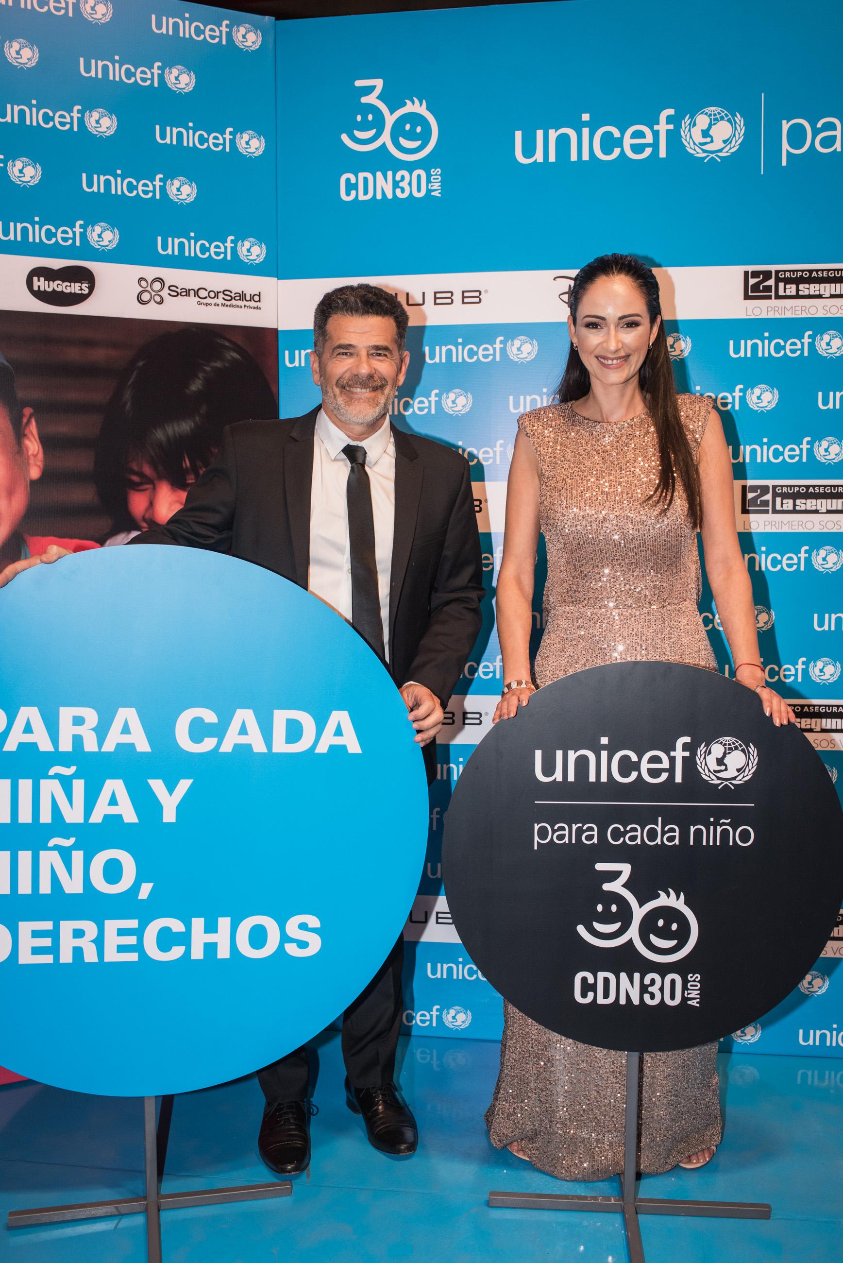 Julián Weich, embajador de UNICEF Argentina, y Gabriela Sobrado, fueron los anfitriones del evento