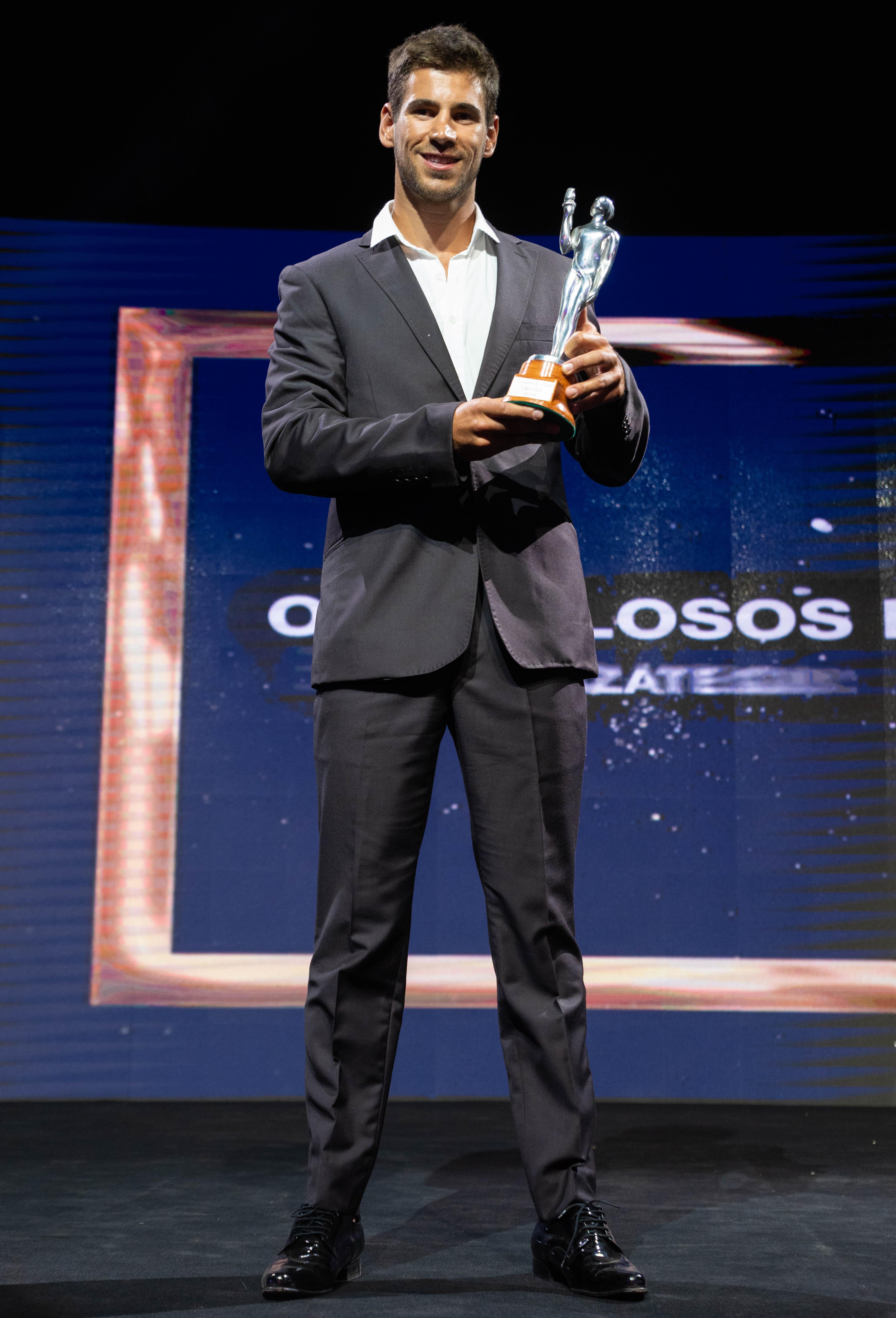 Agustín Vernice, ganador de la terna de canotaje en los Olimpia 2019