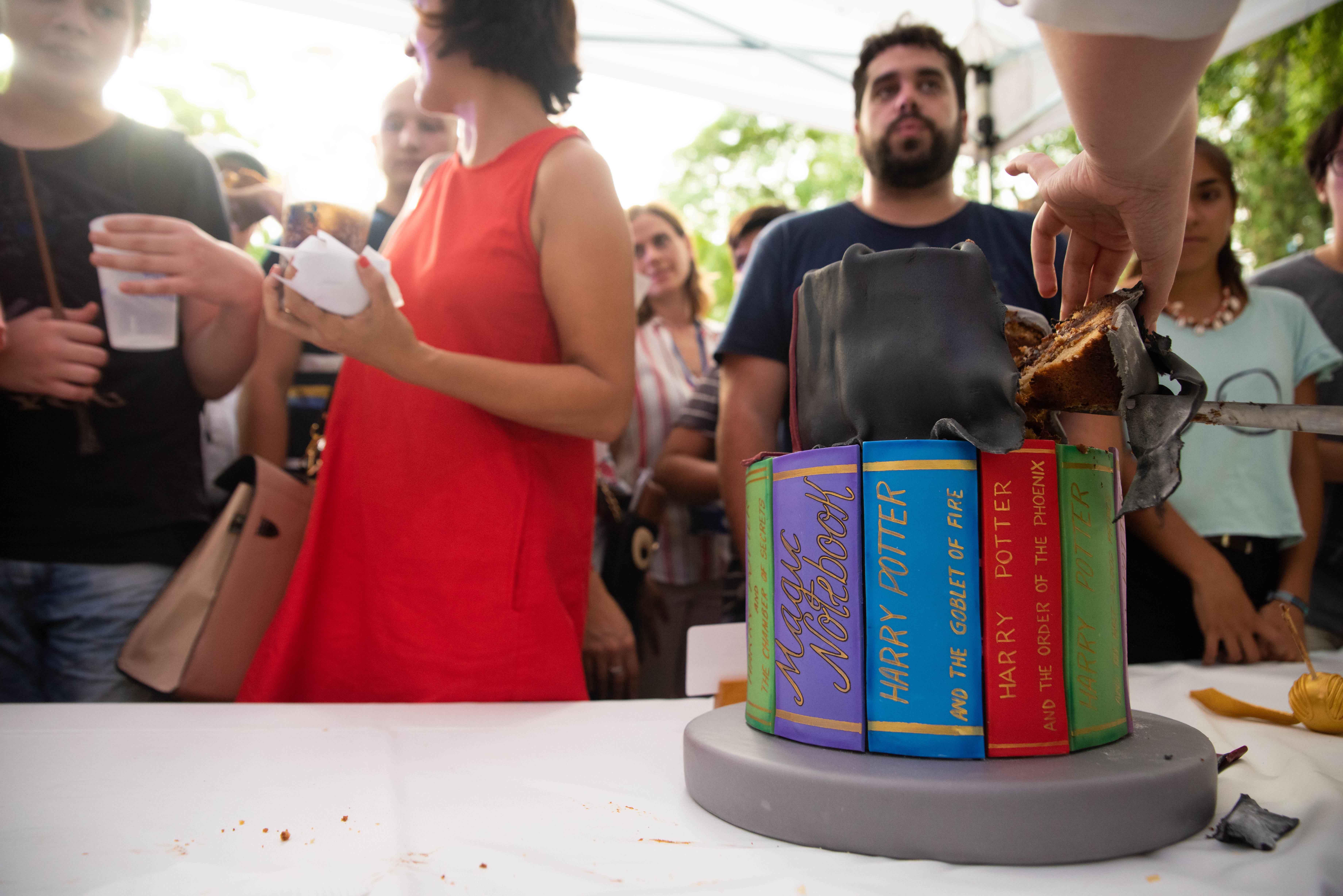 Los presentes pudieron degustar de algunas delicias que tenían como temática varios elementos de Harry Potter