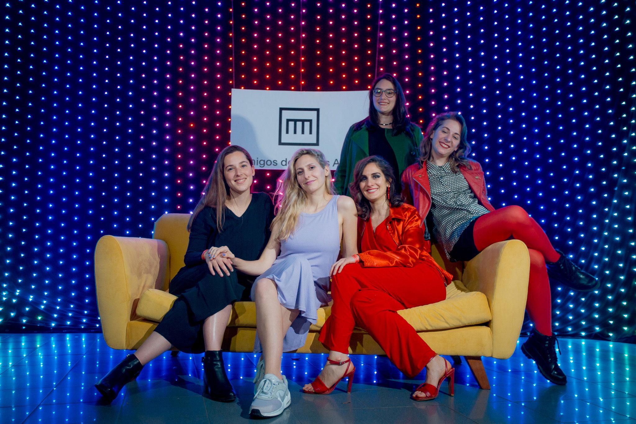 Elene Bruchez, Marlene Binder Meli, Camila De La Cruz, Ailin Staicos y Sofía Pinto