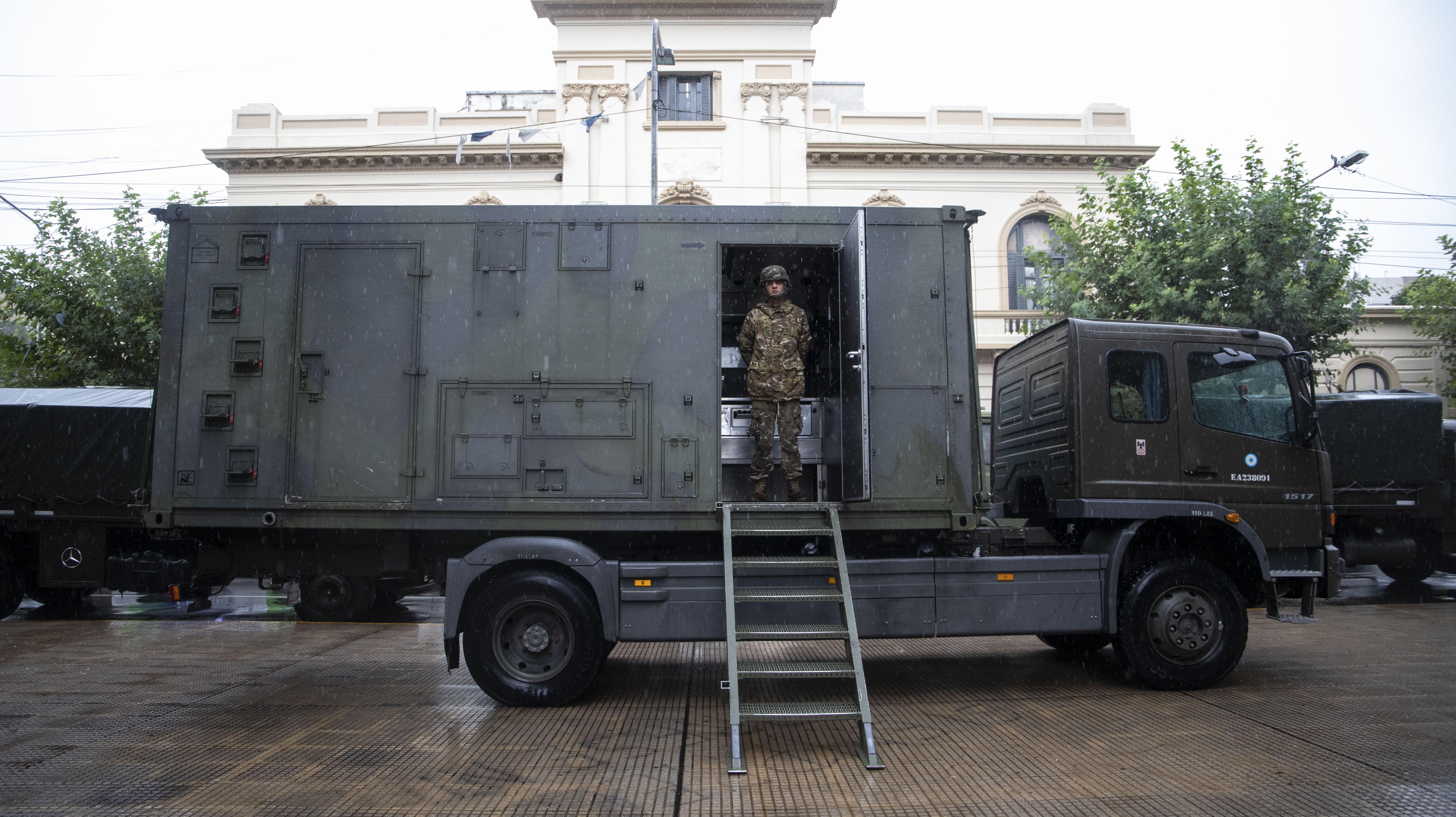 Las autoridades del Ejército coordinaron de manera conjunta con el ministerio de Desarrollo Social la ayuda alimentaria