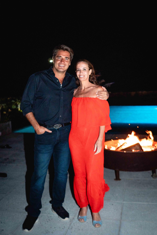 Guillermo Andino y Carolina Prat en Cena McGourmet