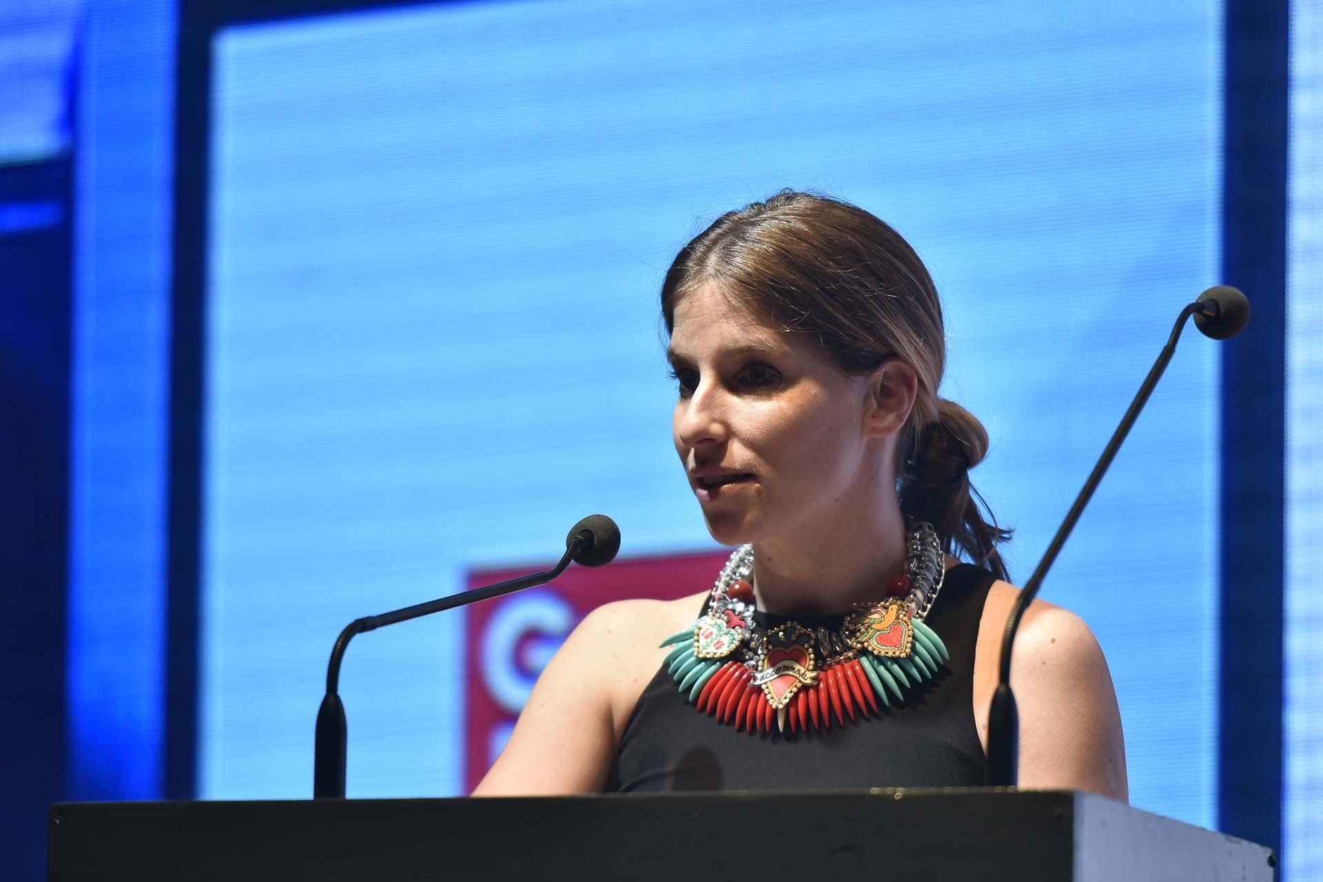 Priscila Pipman, directora comercial de Infobae, subió al escenario y compartió unas palabras con el público presente