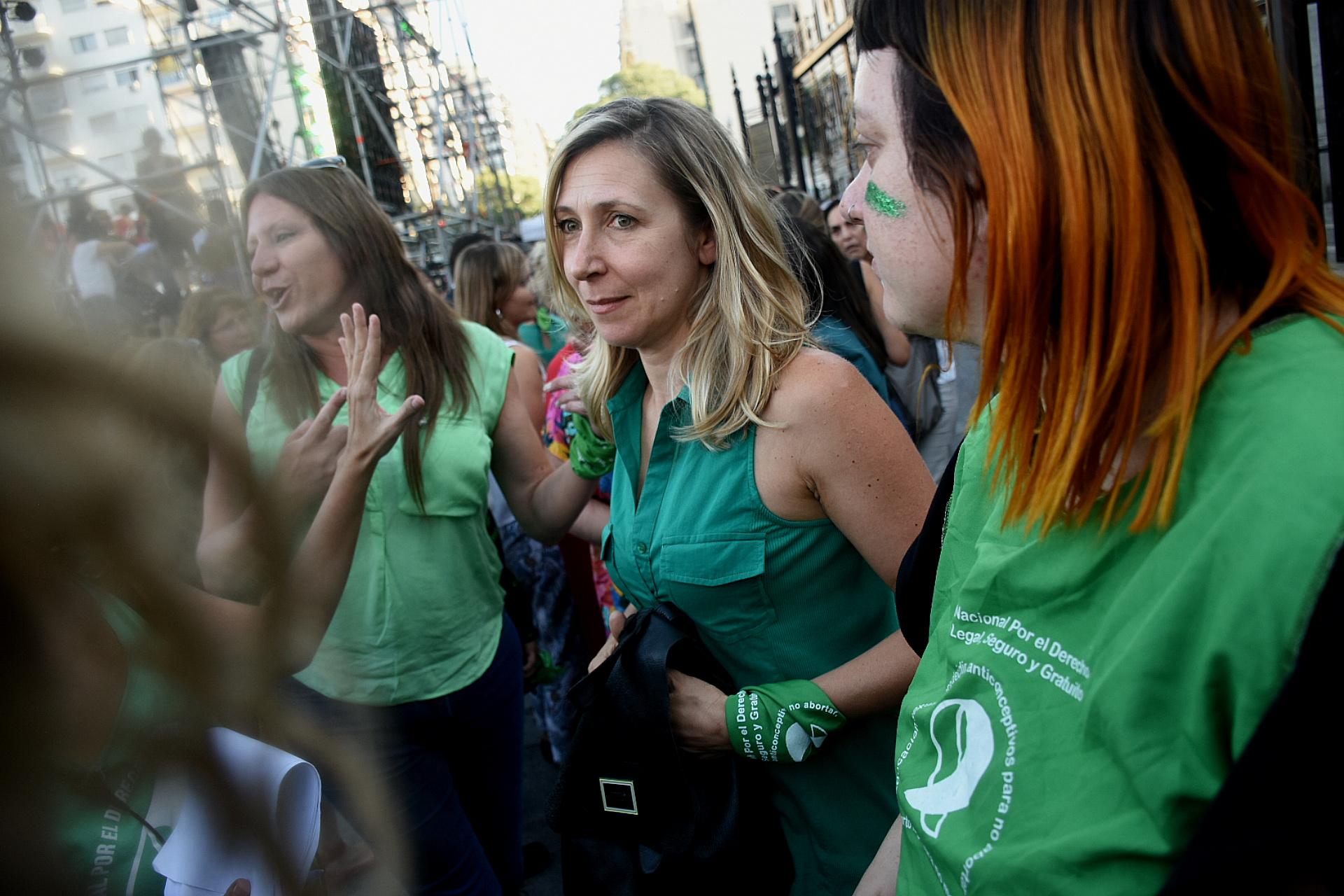 La dirigente de izquierda Myriam Bregman