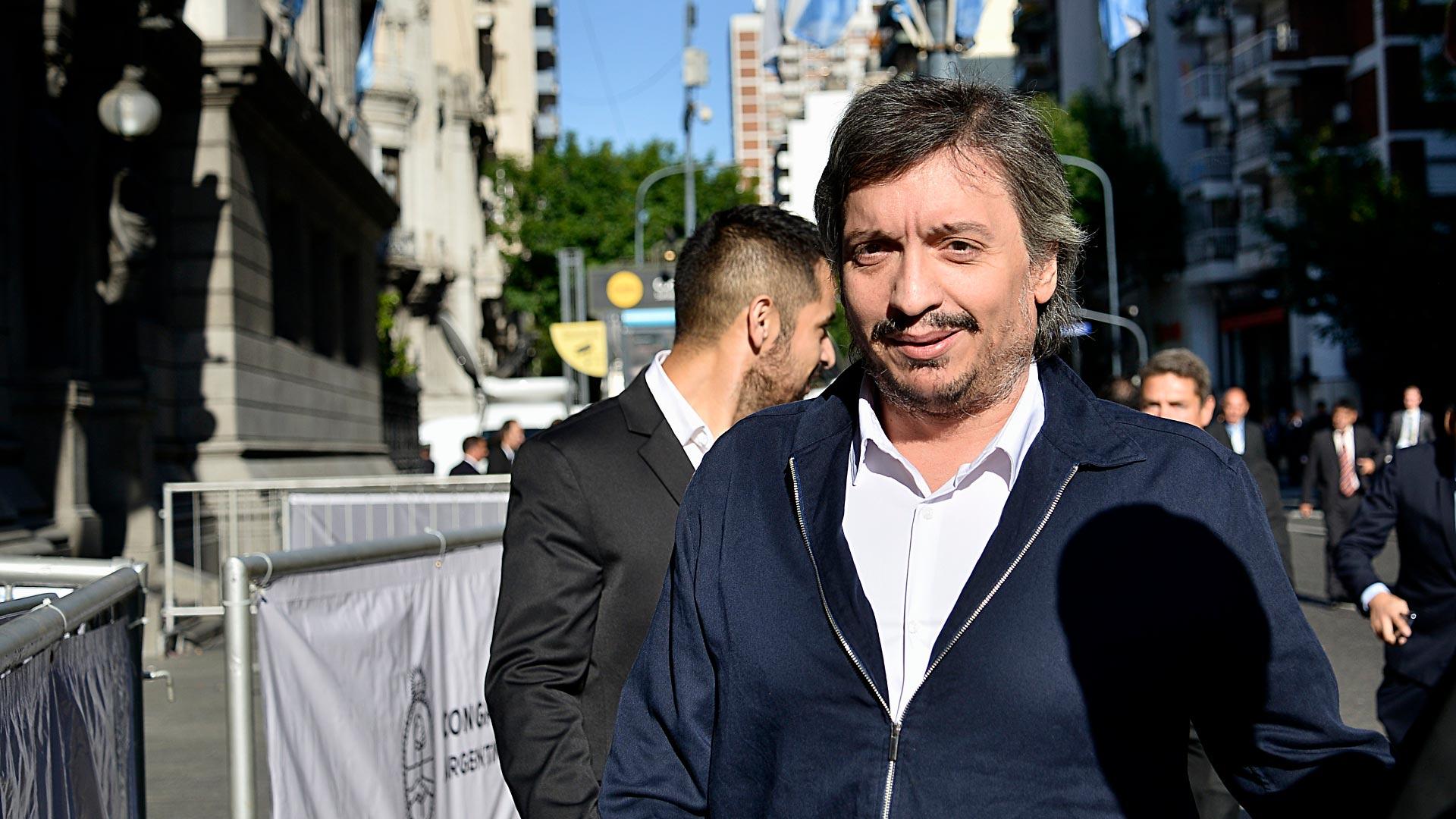 Máximo Kirchner, jefe del bloque de diputados del Frente de Todos