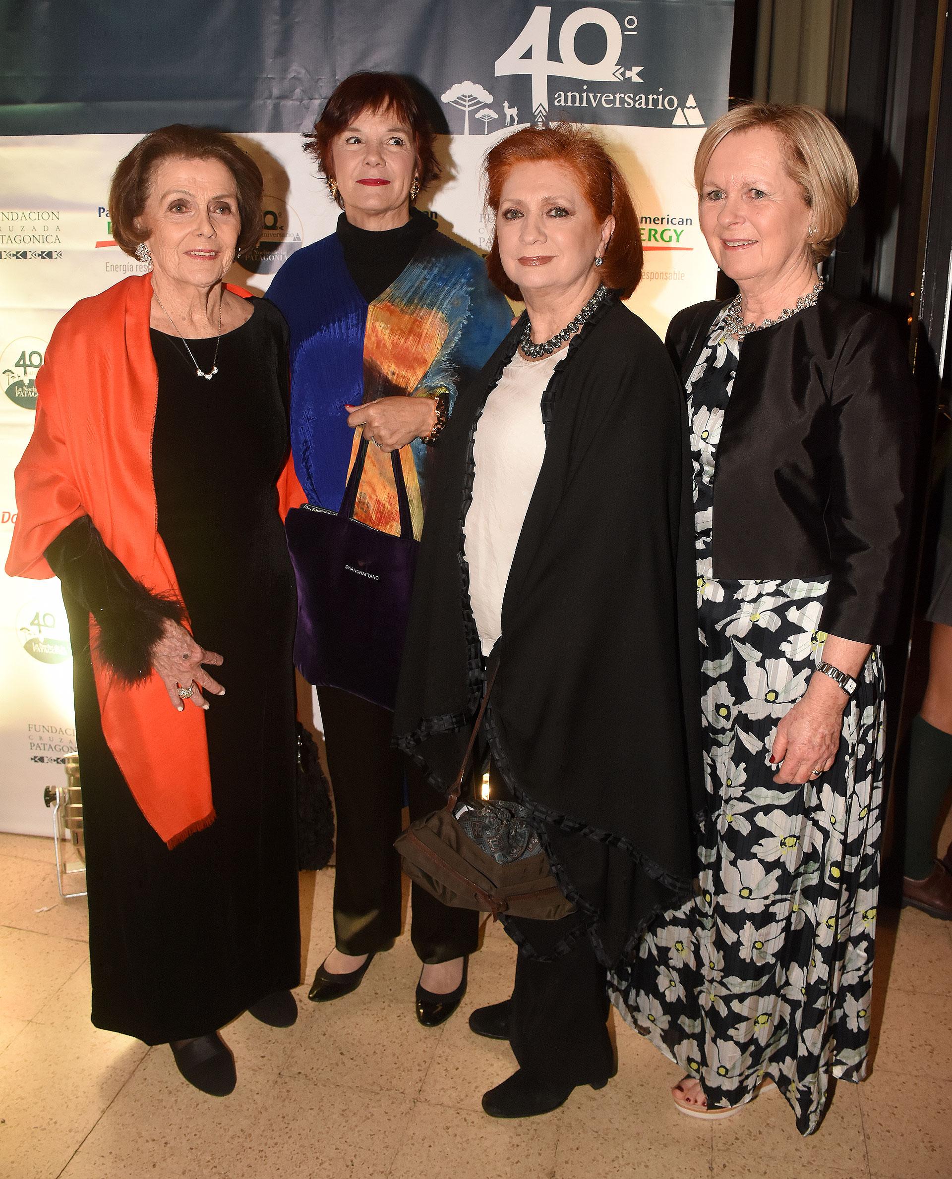 Meme Larivière, Pancha Lavista, Teresa González Fernández y Marina Larivière