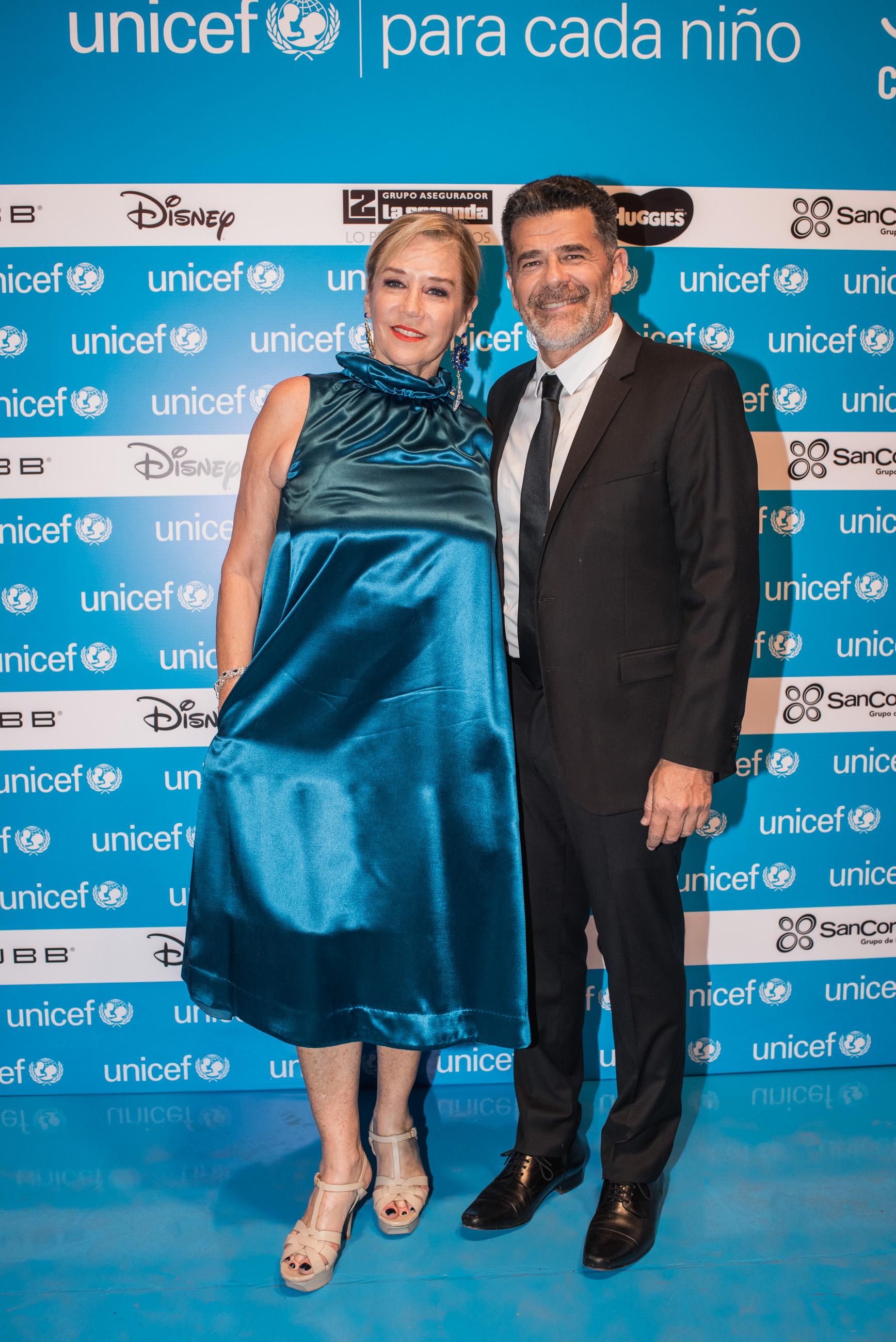 Marcela Tinayre y Julián Weich durante la cuarta edición de la cena anual a beneficio de UNICEF