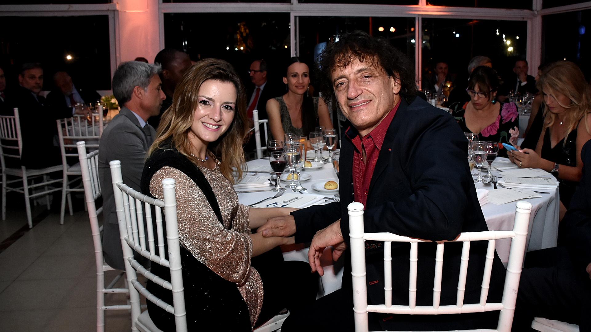 Ángel Mahler y su mujer durante la cena anual de la CCI /// Fotos: Nicolás Stulberg