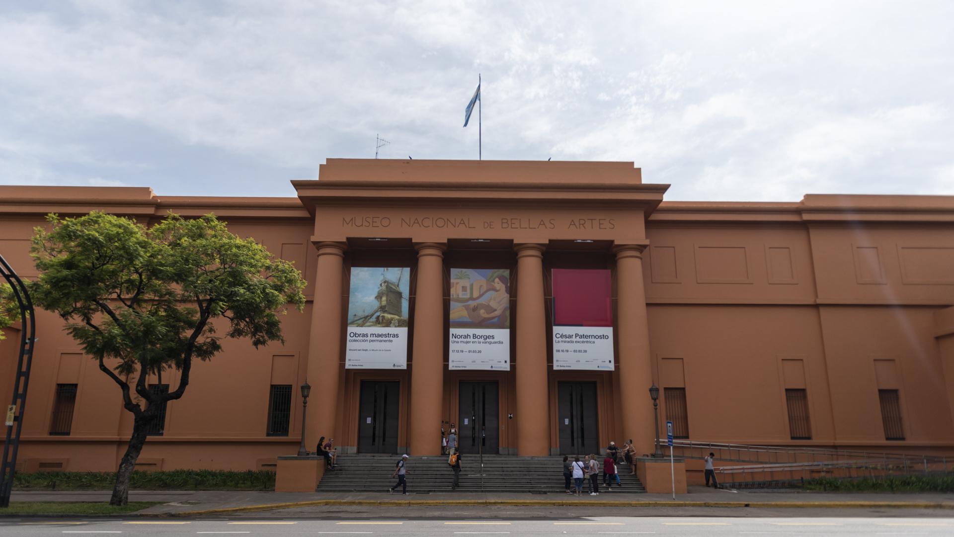 El Museo Nacional de Bellas Artes cerró sus puertas como medida de prevención por el avance del coronavirus (Adrián Escandar)