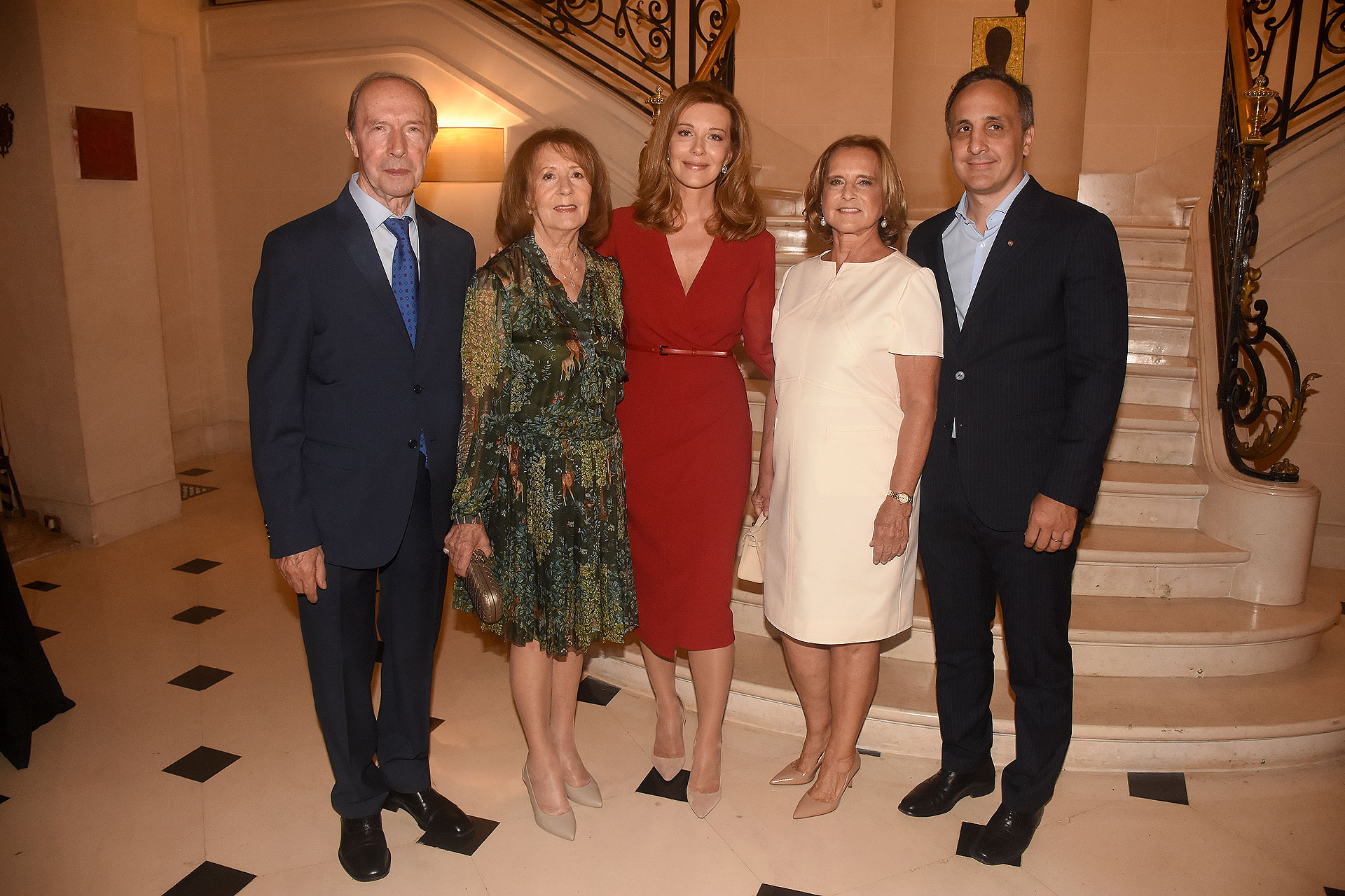 Osvaldo, María, Nunzia Locatelli, Teresa y Marcos Bulgheroni