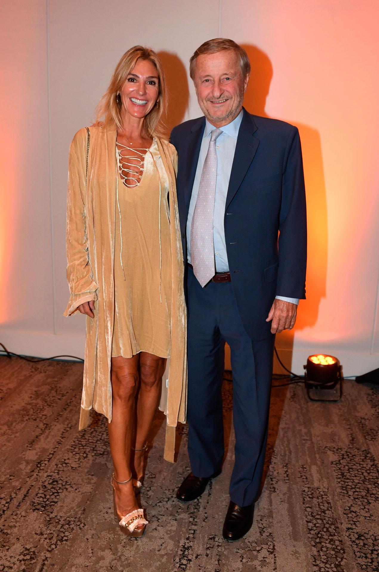 El presidente de Fiat Argentina, Cristiano Rattazzi, y su mujer, Gabriela Castellani