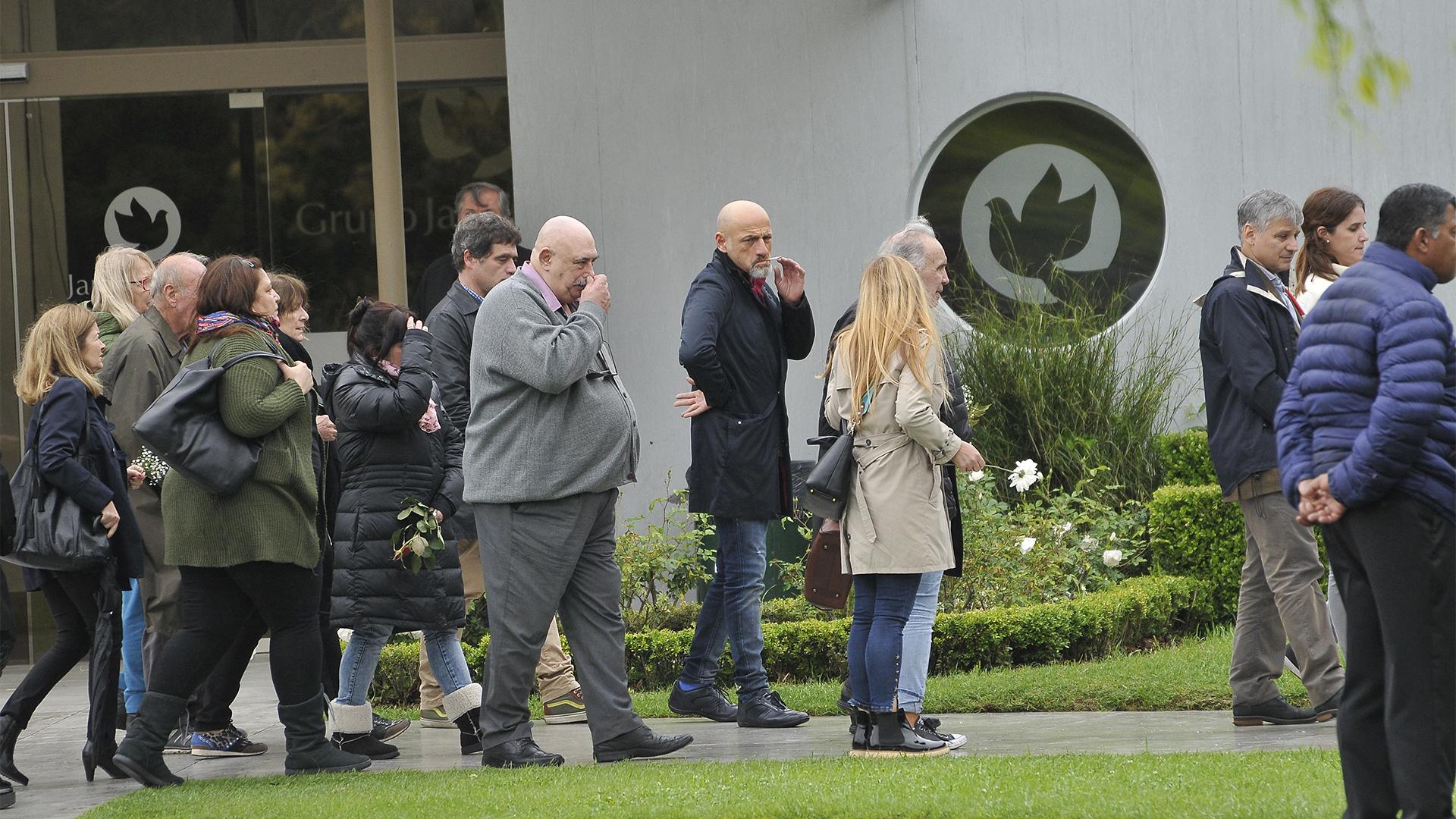 Los restos del artista había sido velados el martes por la noche y el miércoles a la mañana en la Legislatura Porteña (Darío Batallán)