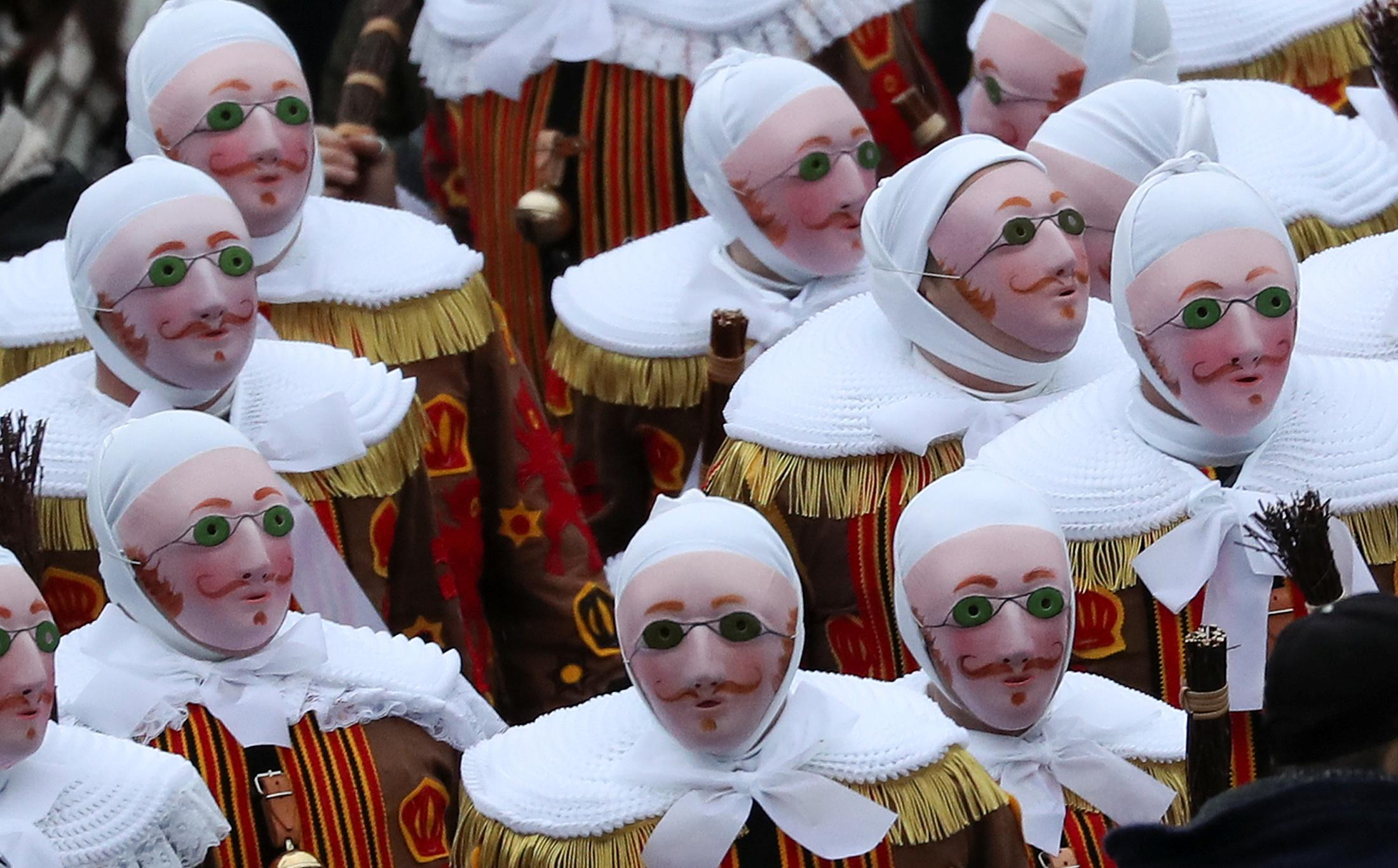 Binche carnival, REUTERS/Yves Herman