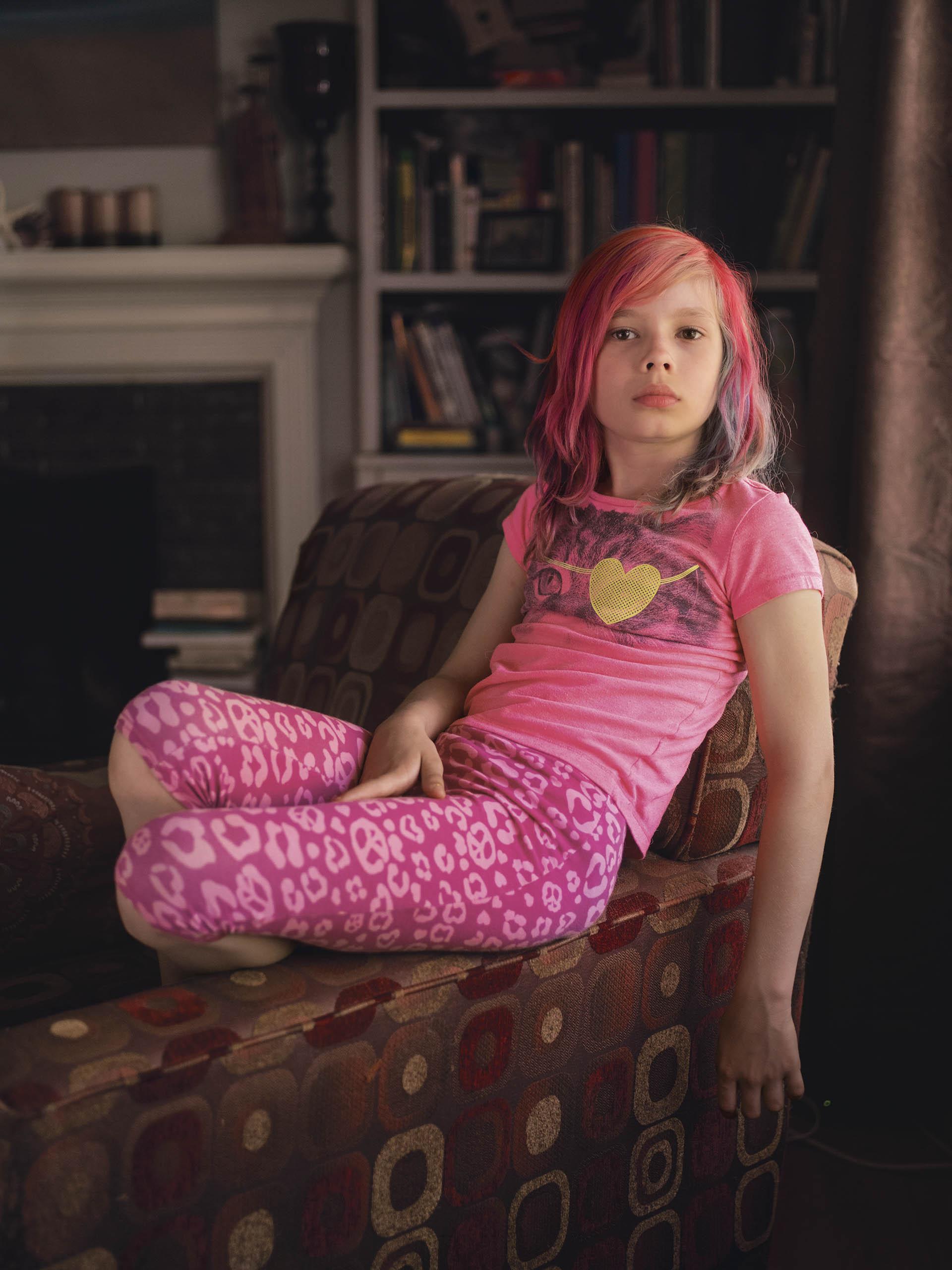 Avery Jackson, una niña trans de nueve años de Kansas City.
