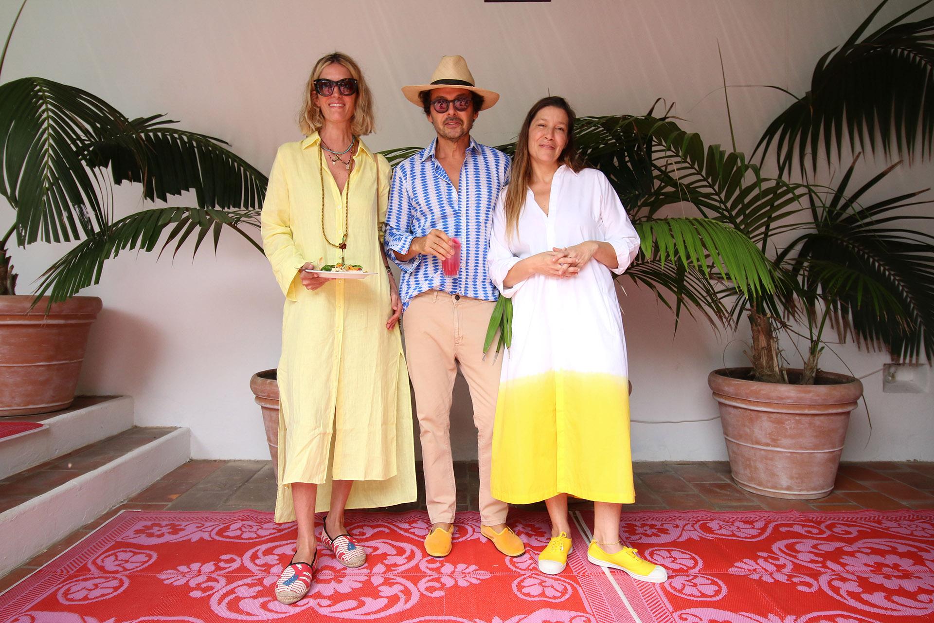 Luisa de Álzaga, Wally Diamante y Gabriela Herbstein