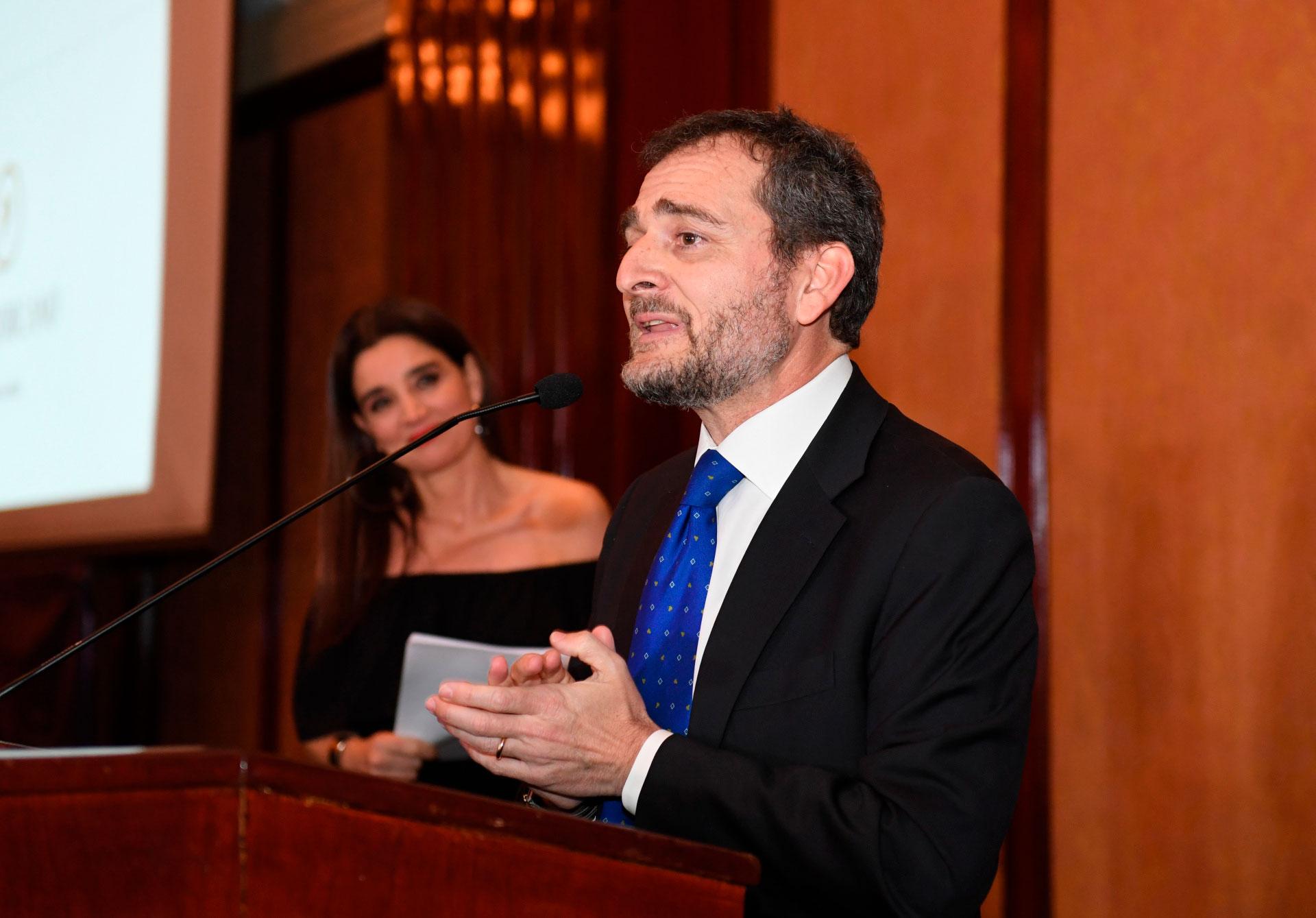 El discurso del cónsul general de Italia, Riccardo Smimmo