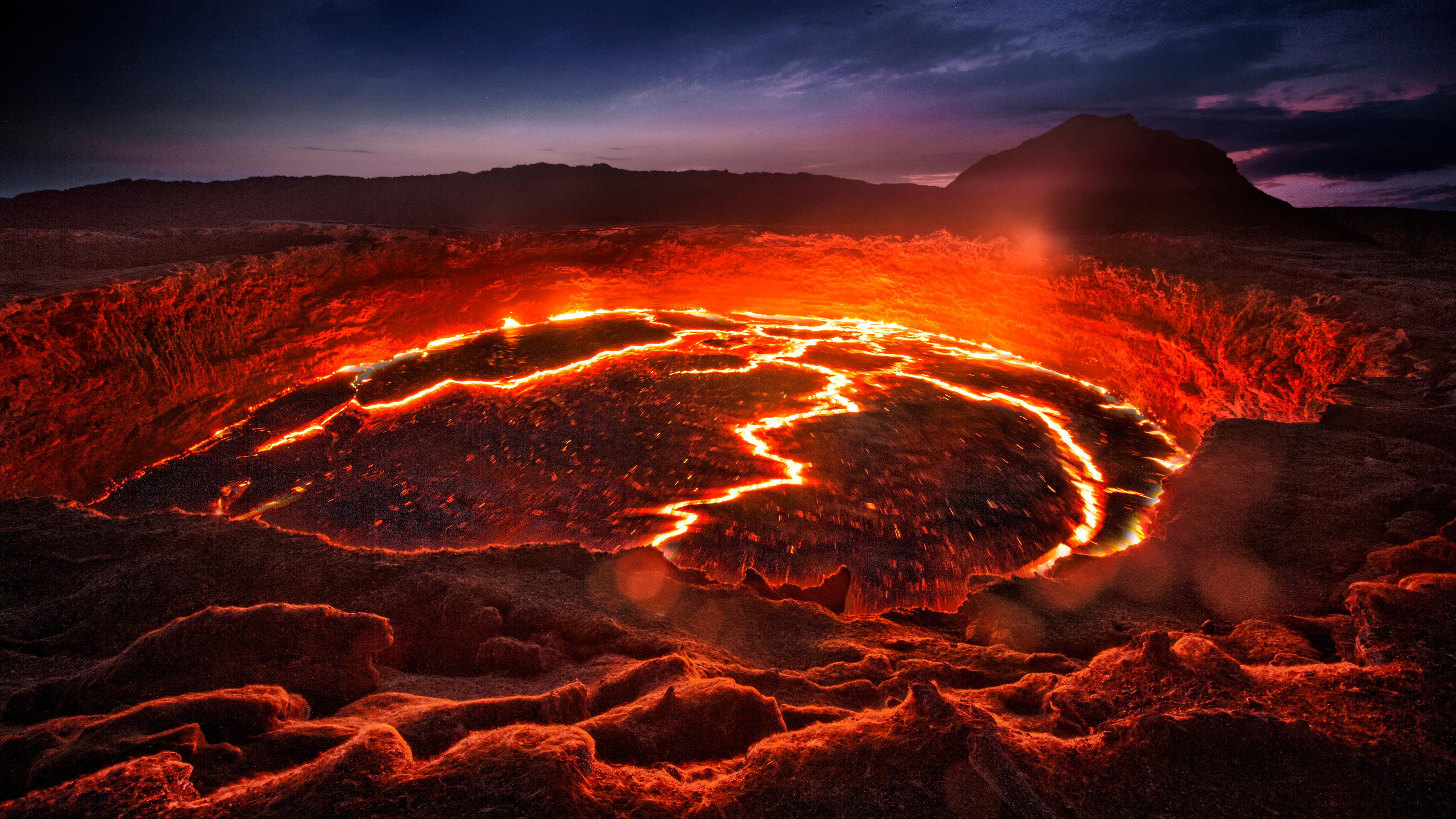 El lago de lava de Erta Ale