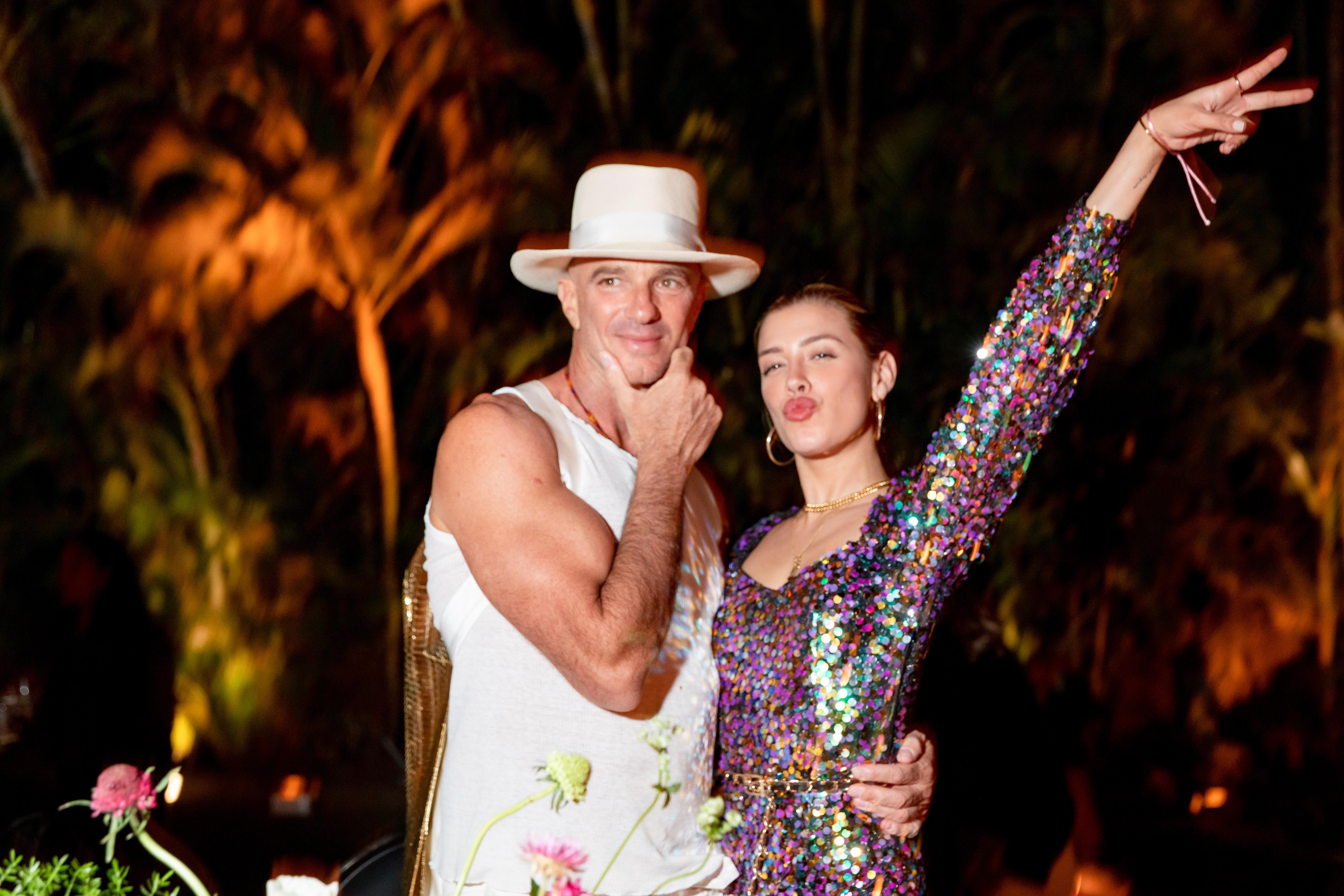 Alan Faena y Michelle Salas volvieron a encontrarse en Miami, luego de haber estado juntos en Nueva York