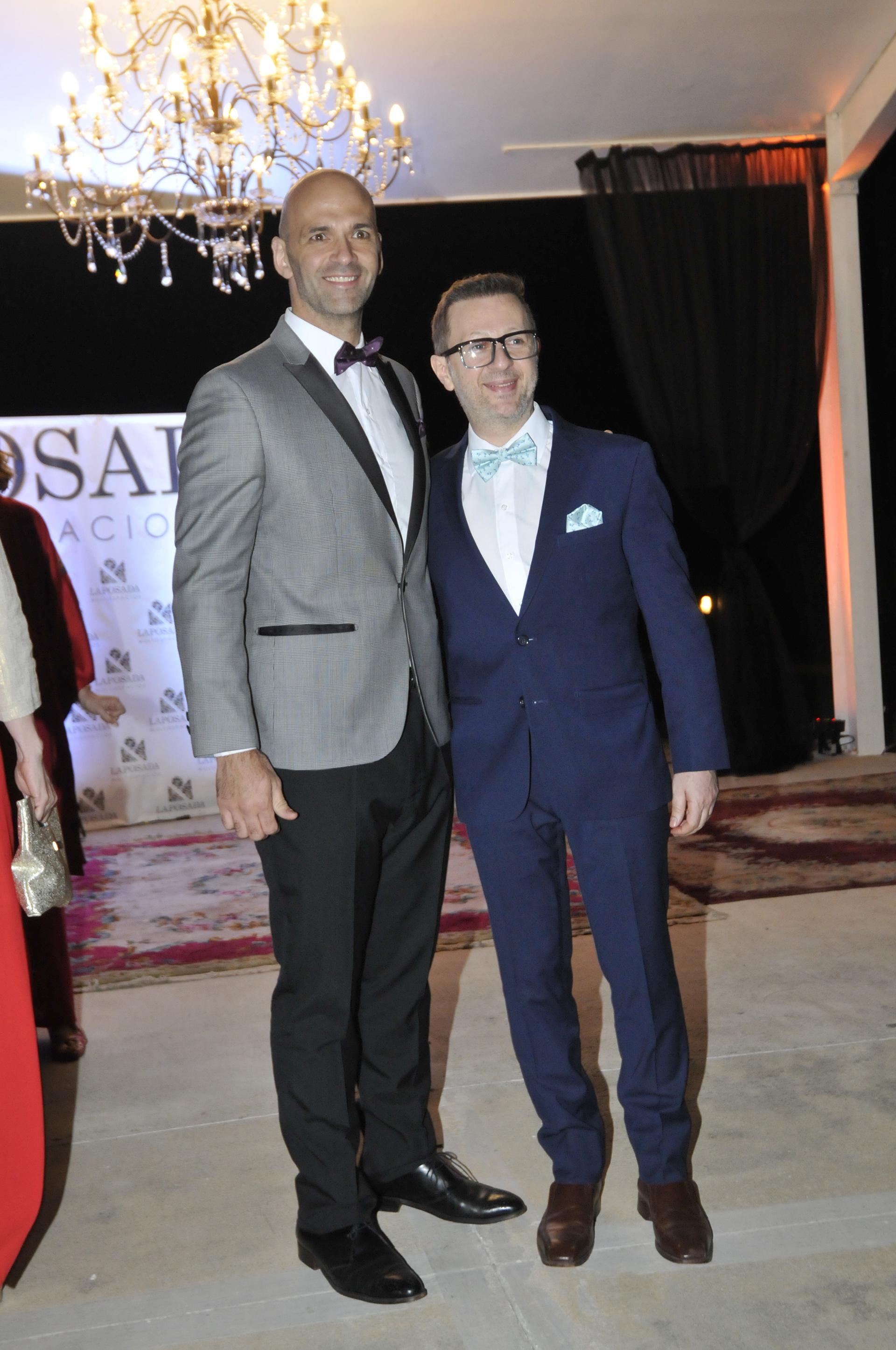 Nicolás Scarpino y su pareja, Sergio Paglini (Crédito de Fotos: Darío Batallán/Teleshow)