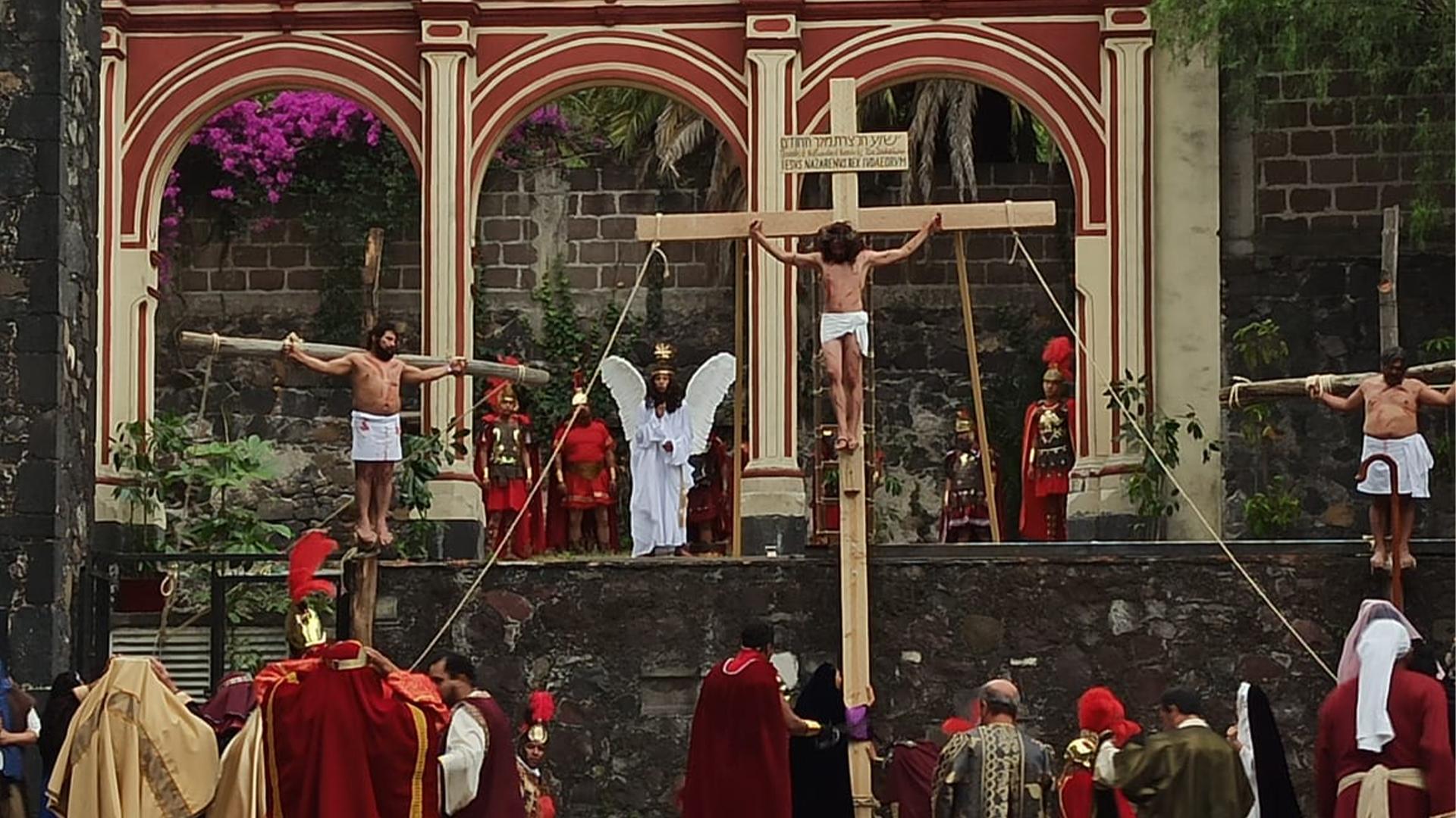 La 177 representación de la pasión, muerte y resurrección de Cristo se realiza sin público y se lleva a cabo de manera ininterrumpida desde hace más de 170 años (Foto: Cortesía)