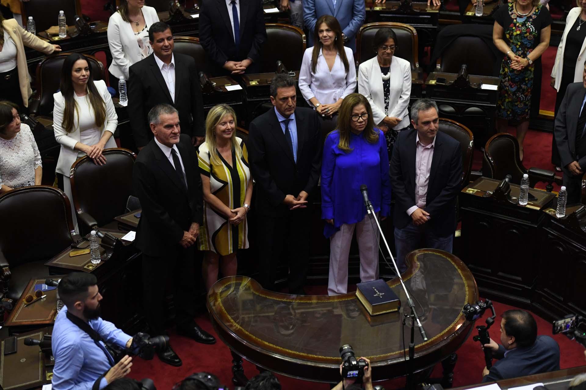 Carlos Castagneto, Cristina Álvarez Rodríguez, Sergio Massa, Graciela Camaño y Andrés