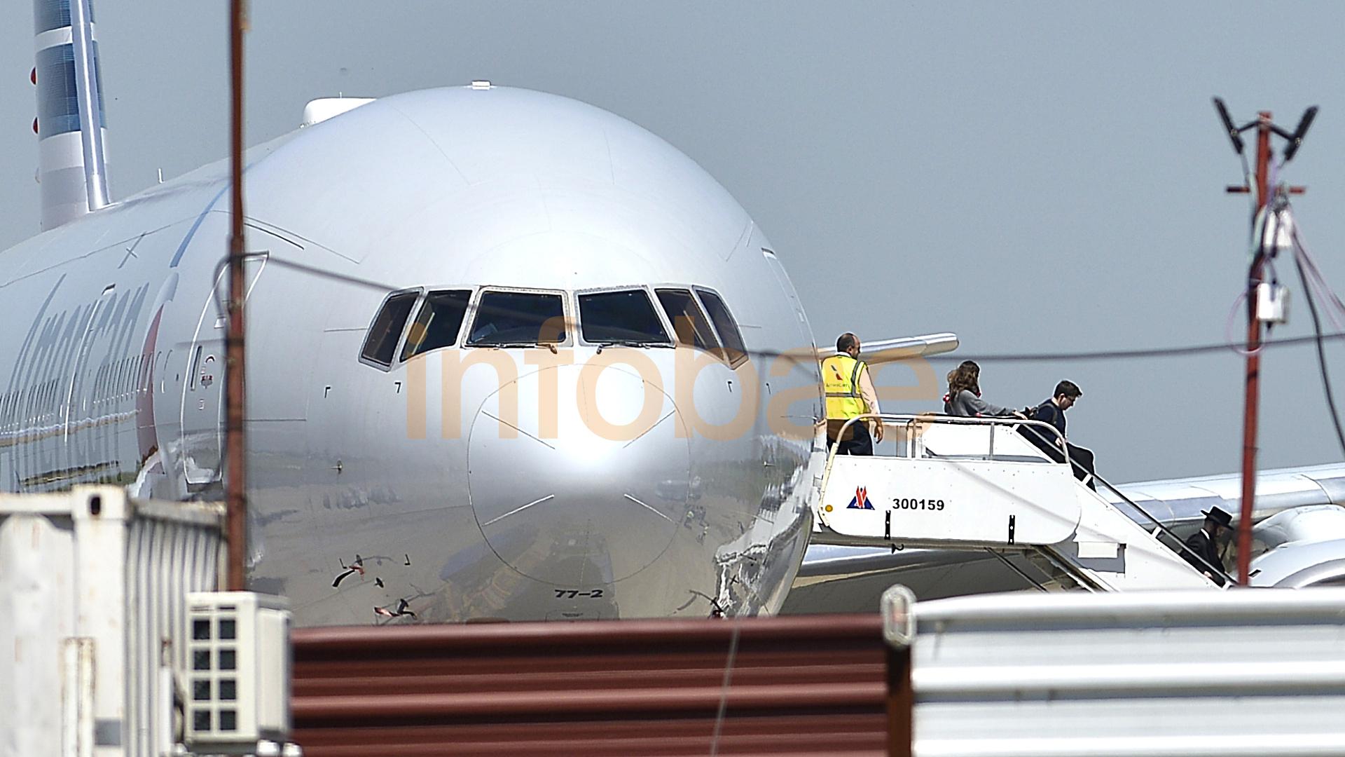 Este es el avión de American Airlines al que le activaron el protocolo de coronavirus en Ezeiza