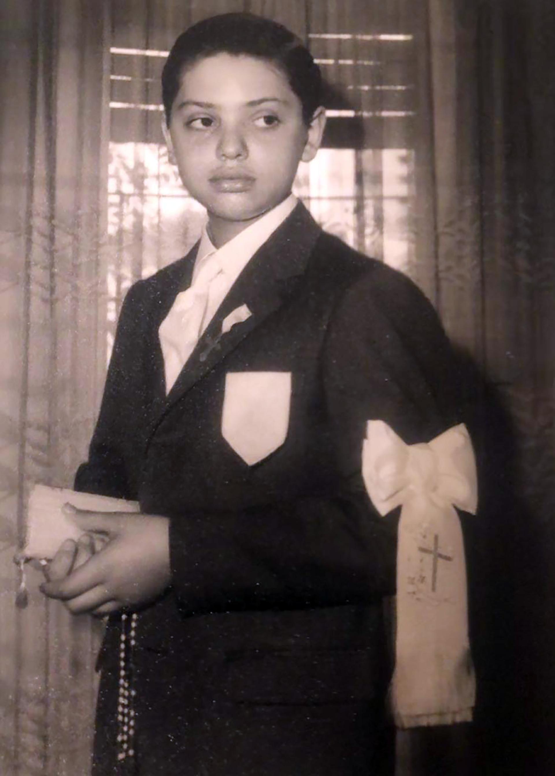 Tomó la comunión en 1967. Si bien dijo que era